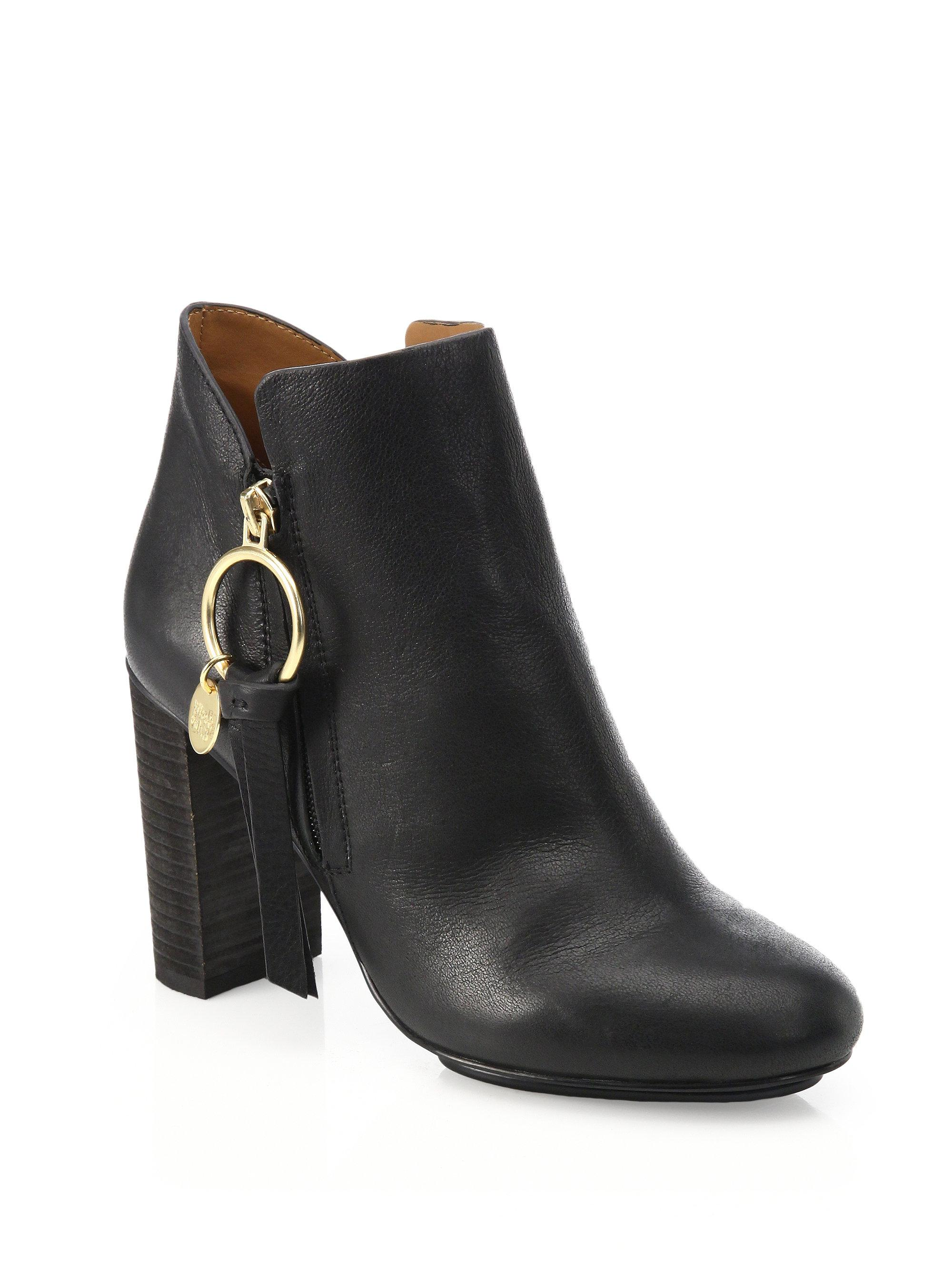 Chloé Erika Platform Leather Booties Q1yozR4e