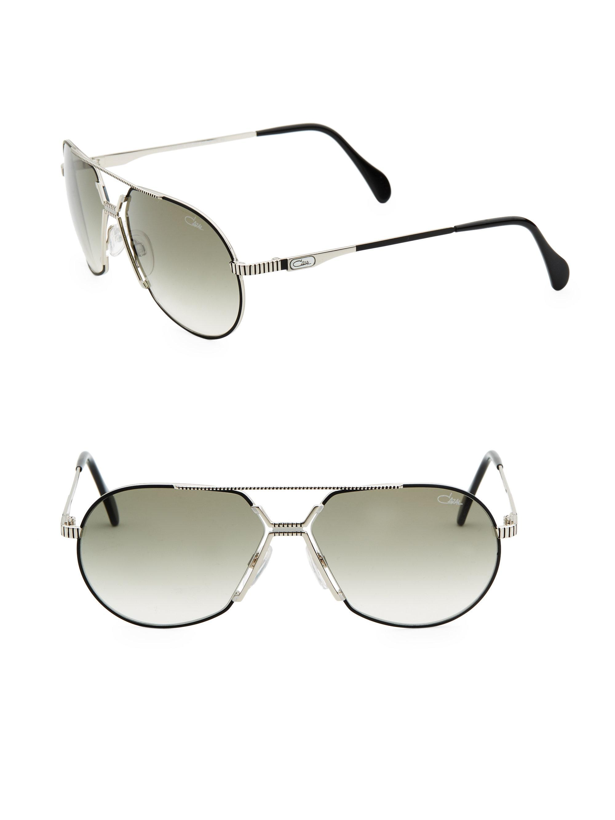 38eb2bfa71a Cazal 62mm Aviator Sunglasses - Lyst