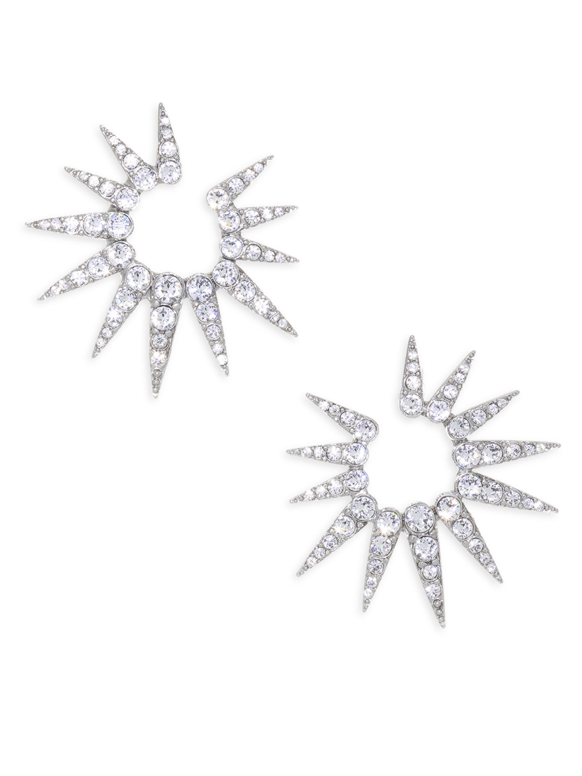 Oscar De La Renta Sea Urchin Small Crystal Earrings JtI3fGrN