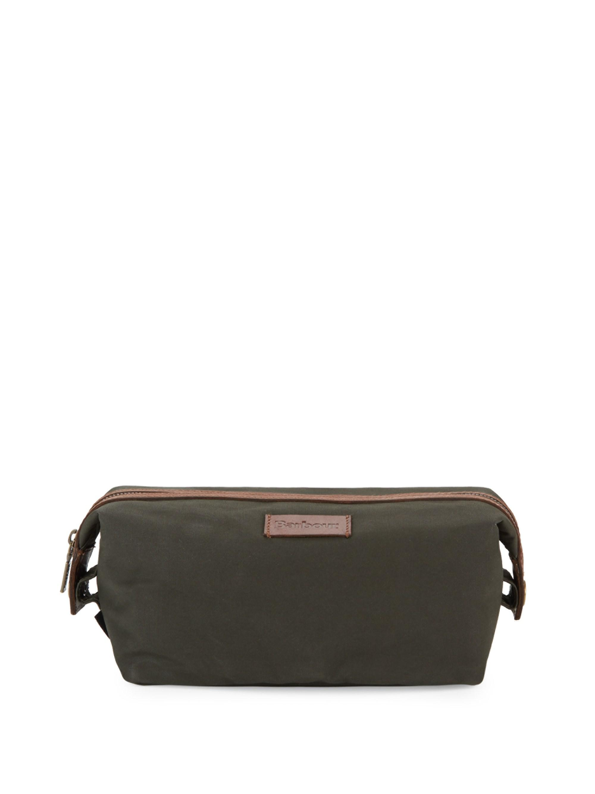 4177050afc3f Barbour Drywax Convertible Washbag in Green - Lyst