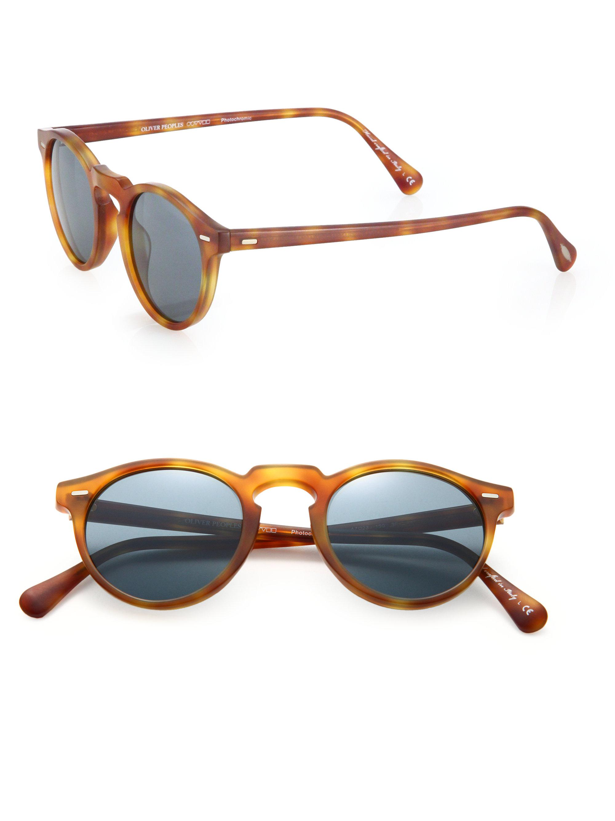 965ee63cf8 Oliver Peoples Gregory Peck 47mm Round Sunglasses in Brown for Men ...