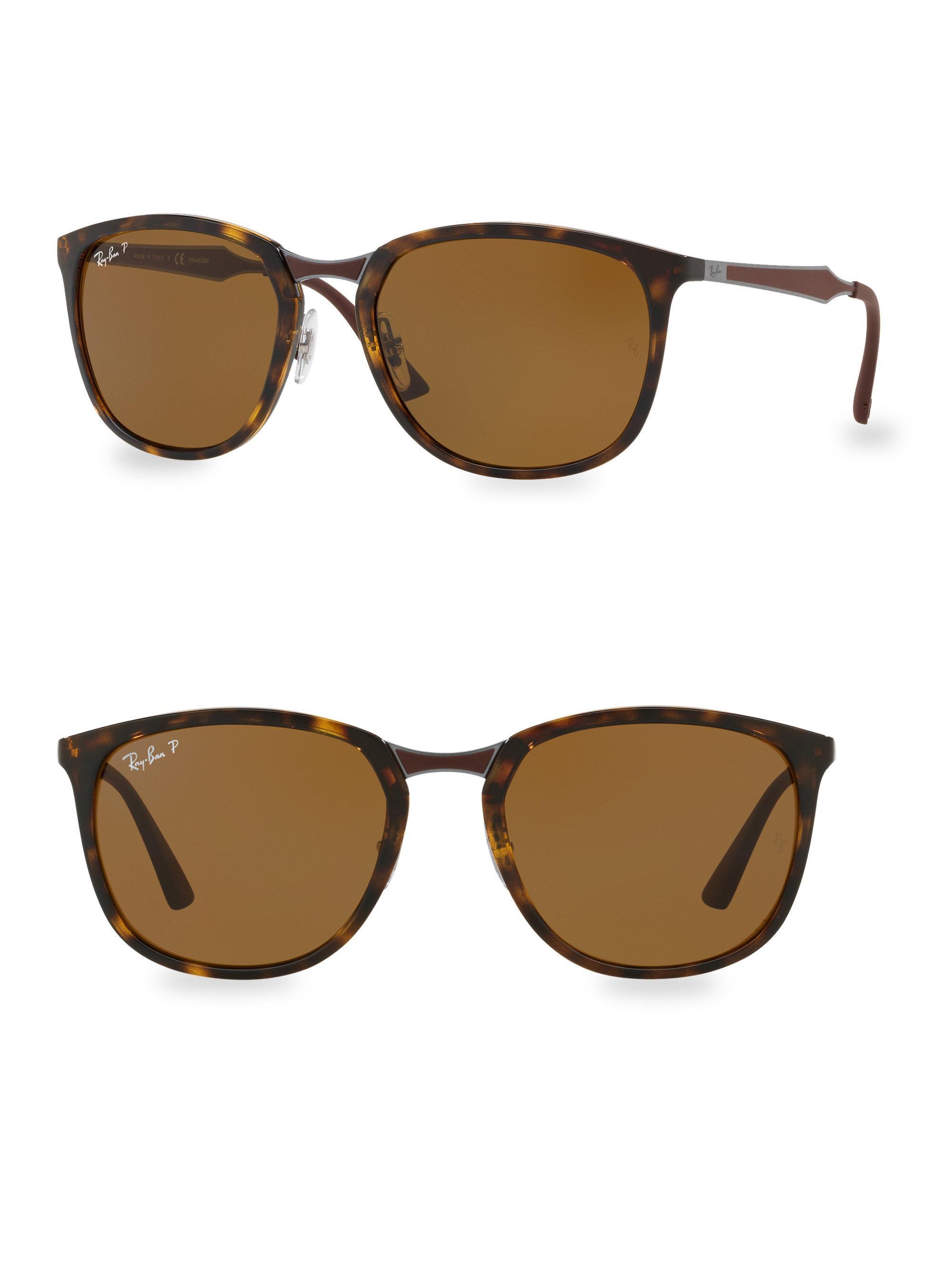 de68b1c855 Lyst - Ray-Ban Round Tortoise Sunglasses in Brown for Men