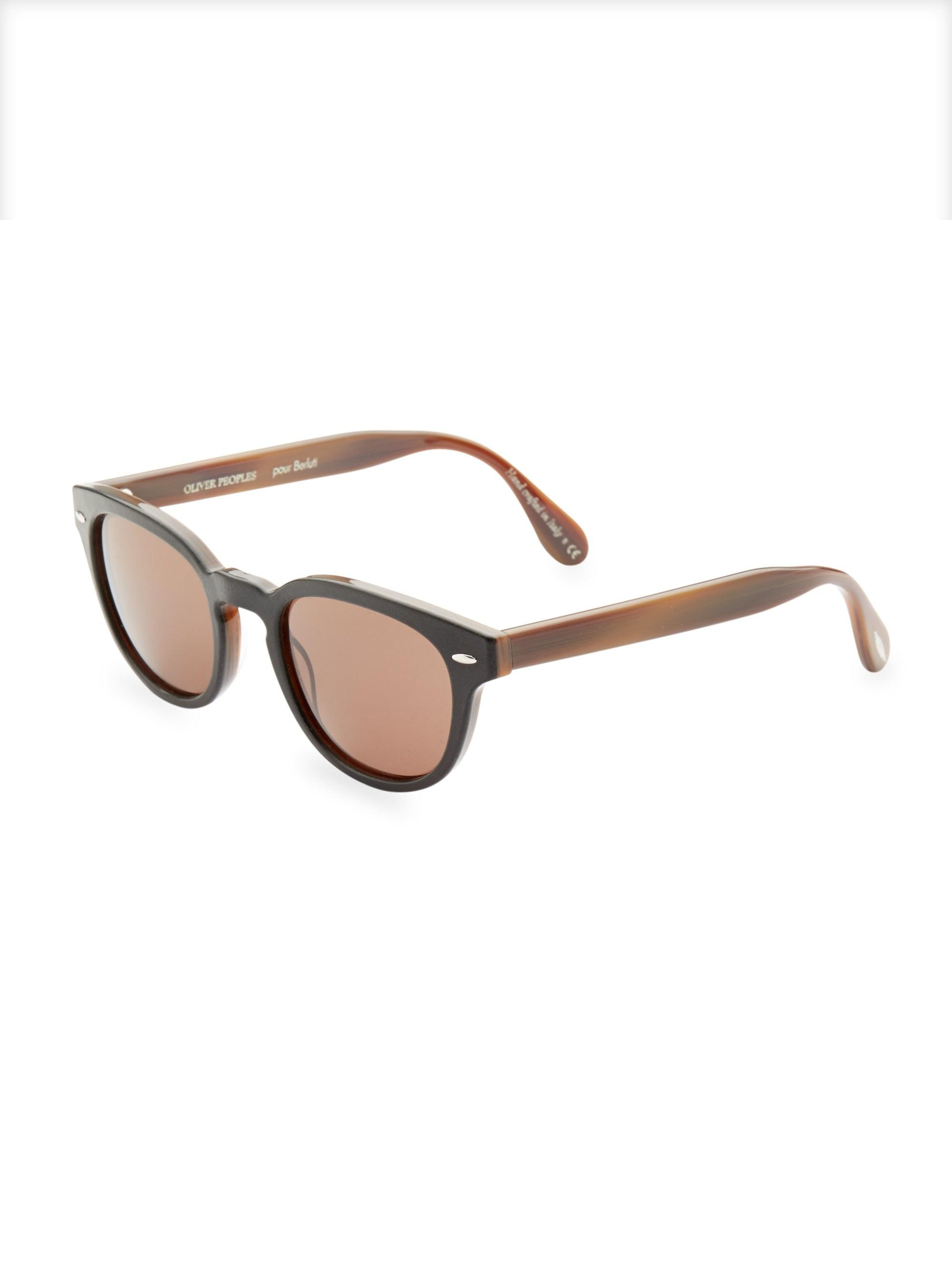f65d6e0db28 Oliver Peoples - Brown Sheldrake Leather 47mm Sunglasses for Men - Lyst.  View fullscreen