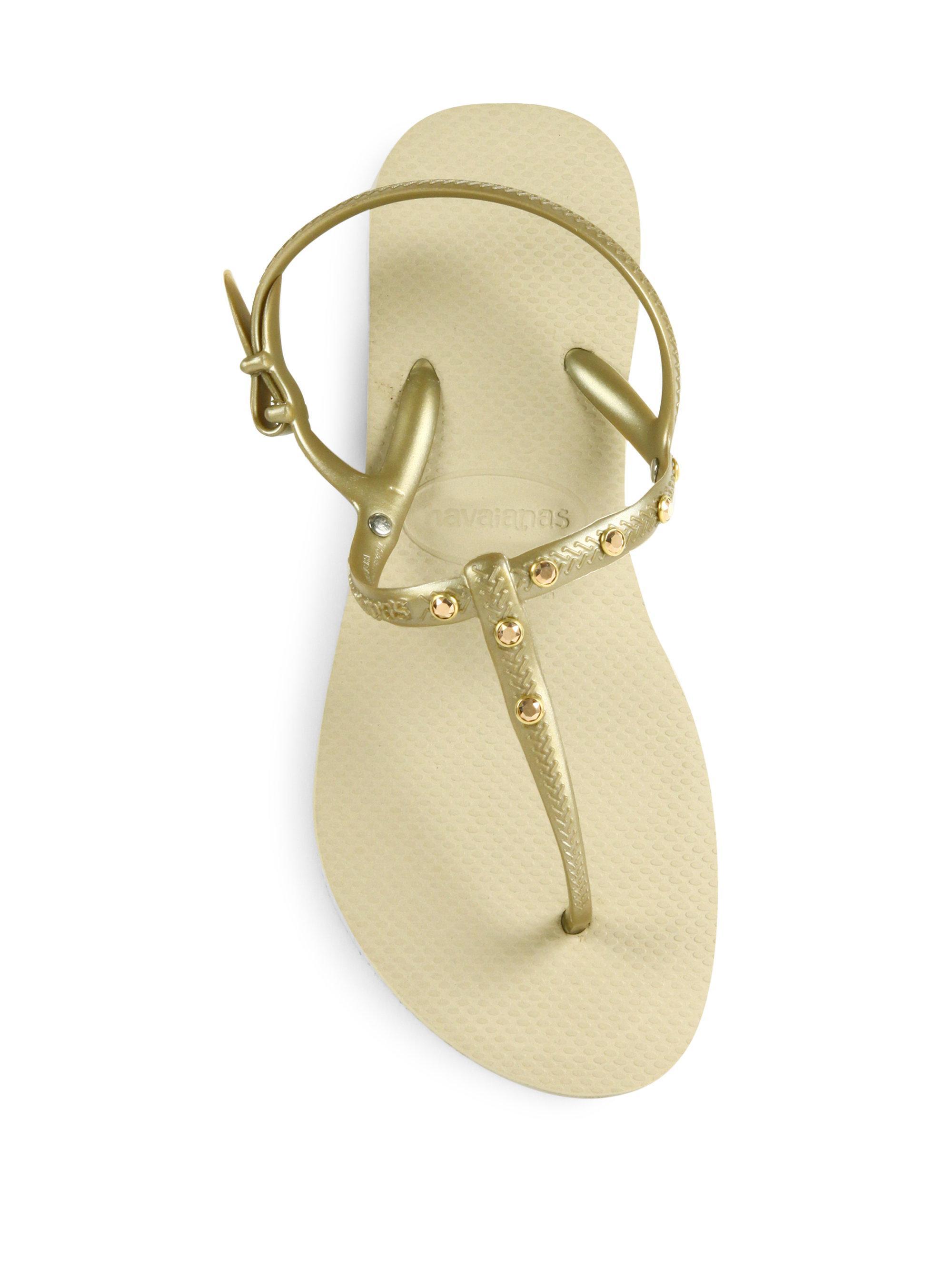 fd71bde8bfb5 Lyst - Havaianas Freedom Crystal Swarovski Slingback Sandals