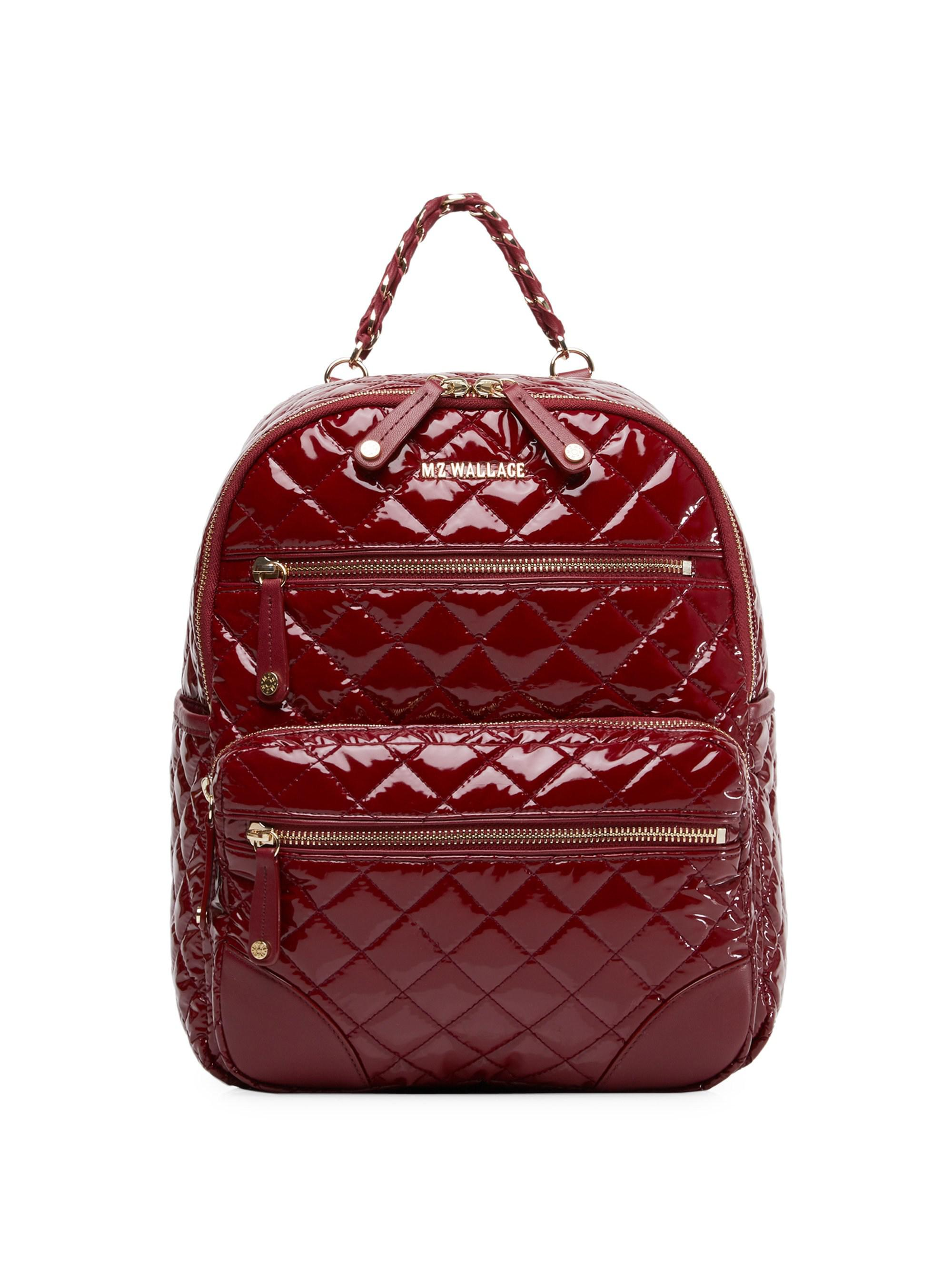 78f685b997c4 Lyst - Mz Wallace Small Crosby Backpack in Red