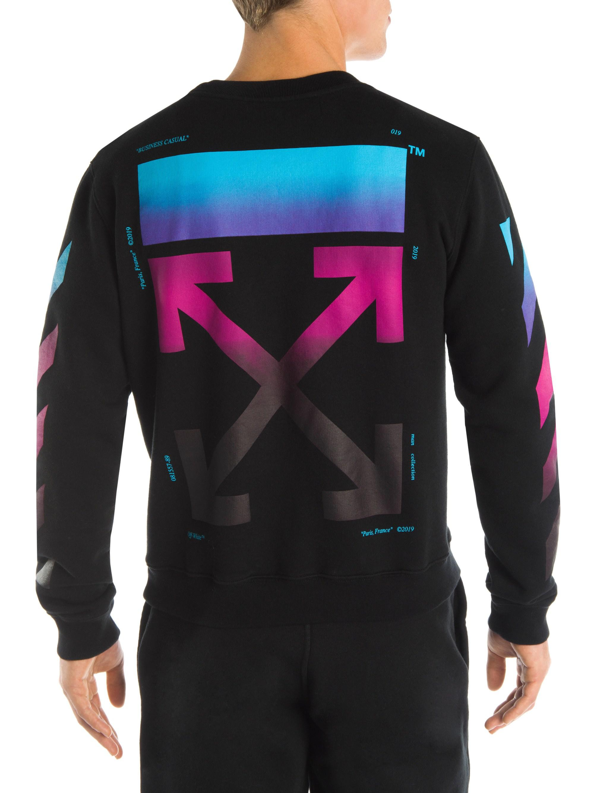 514a8cfa2aac Lyst - Off-White c o Virgil Abloh Diagonal Gradient Long Sleeve ...
