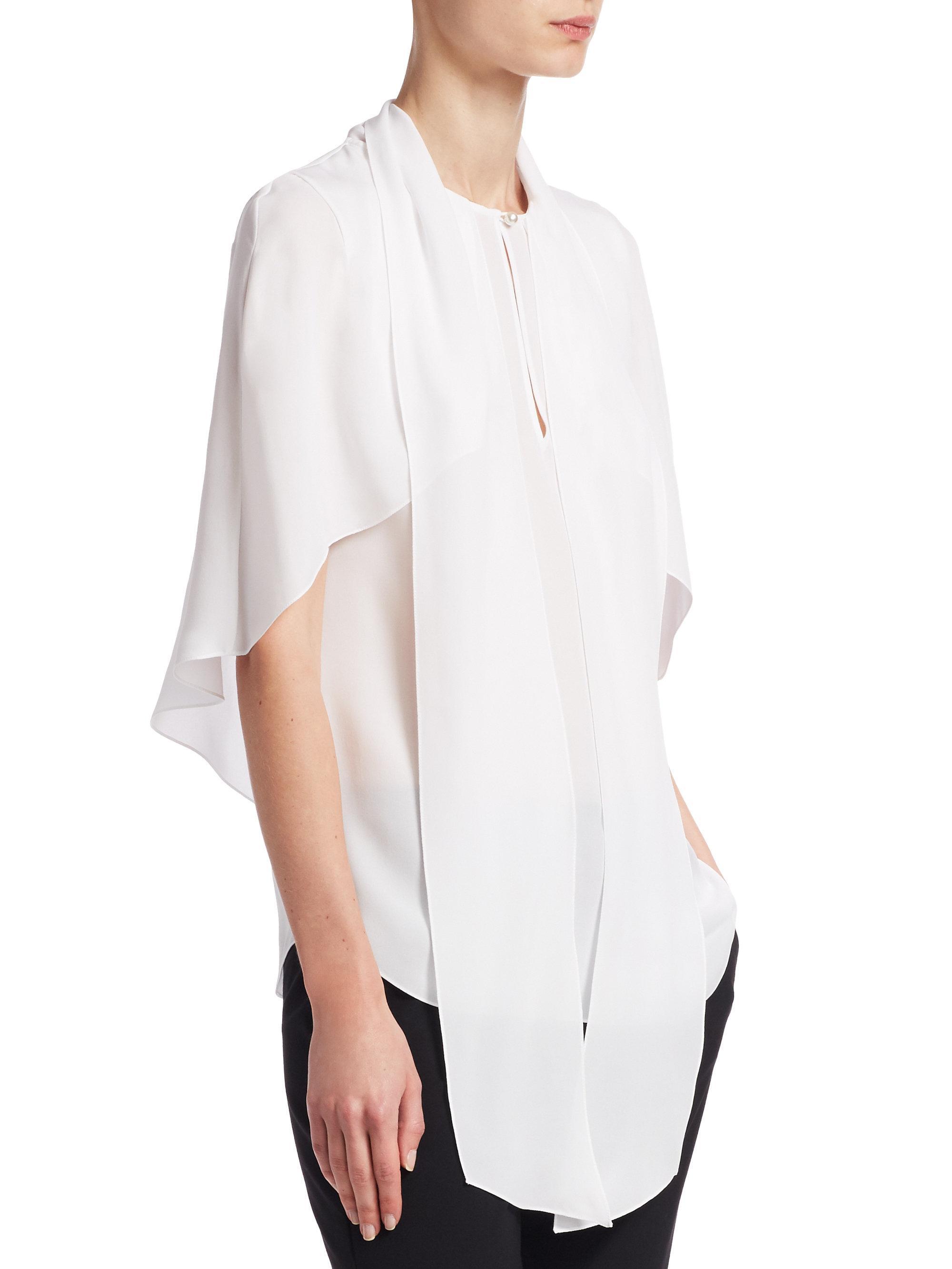 Womens Colorblocked Silk Blouse Givenchy Sale Sast Buy Cheap Cheap Cheap Explore Vckn3lSn