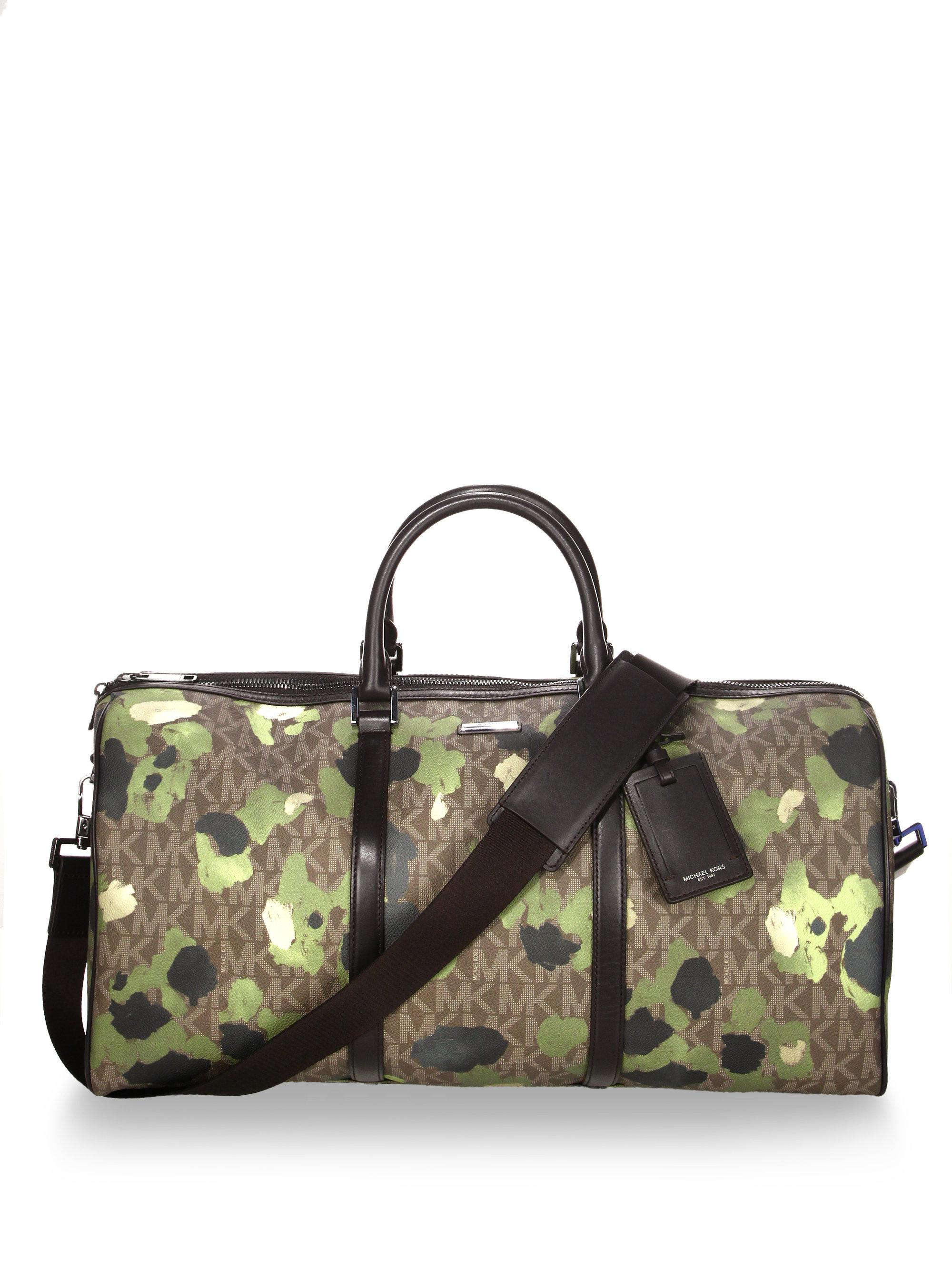 398ae758ce28 Michael Kors Camouflage Print Large Duffle Bag for Men - Lyst