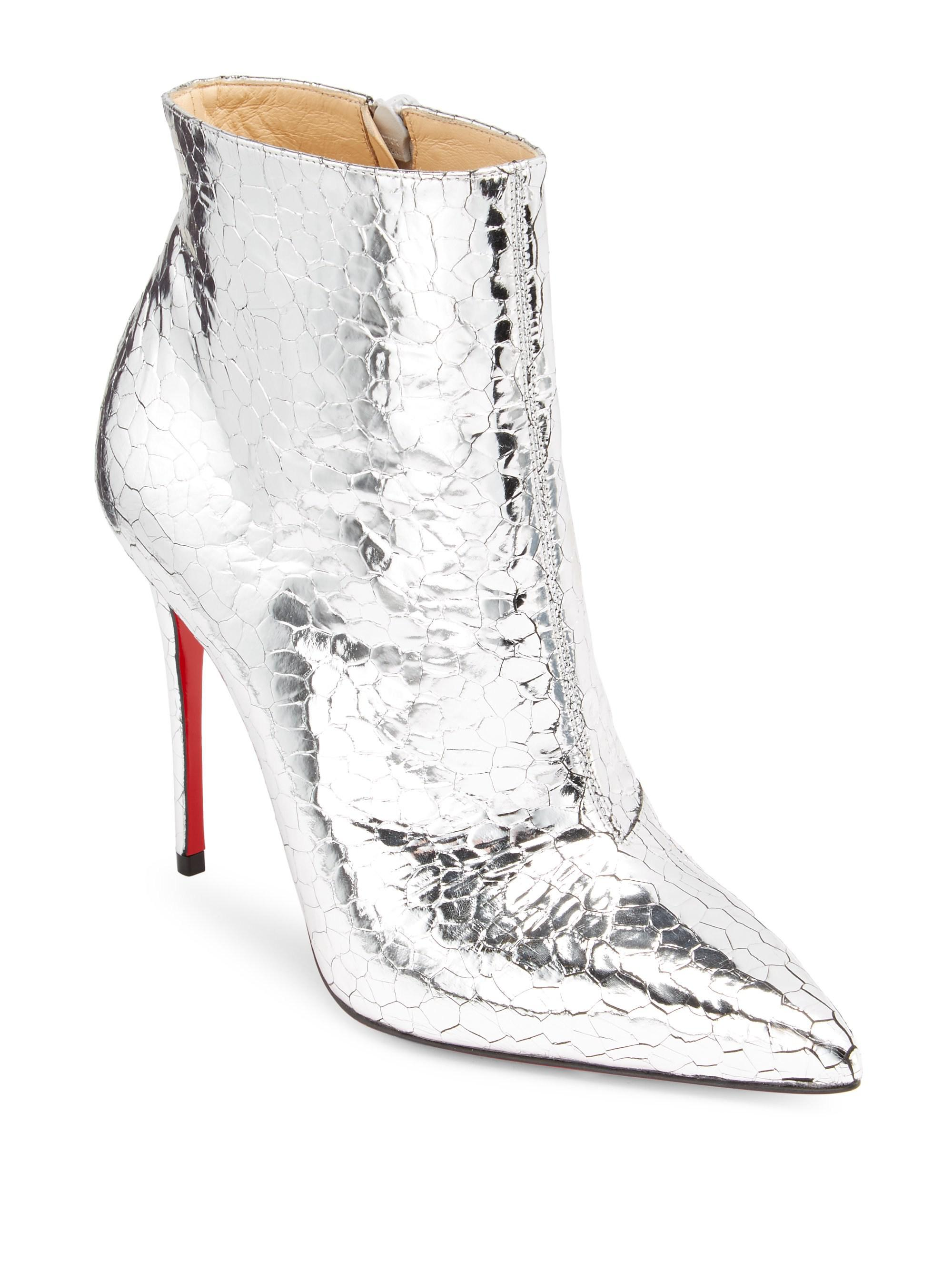 19d2bc6ef4c6 Christian Louboutin So Kate Booty in Metallic - Lyst