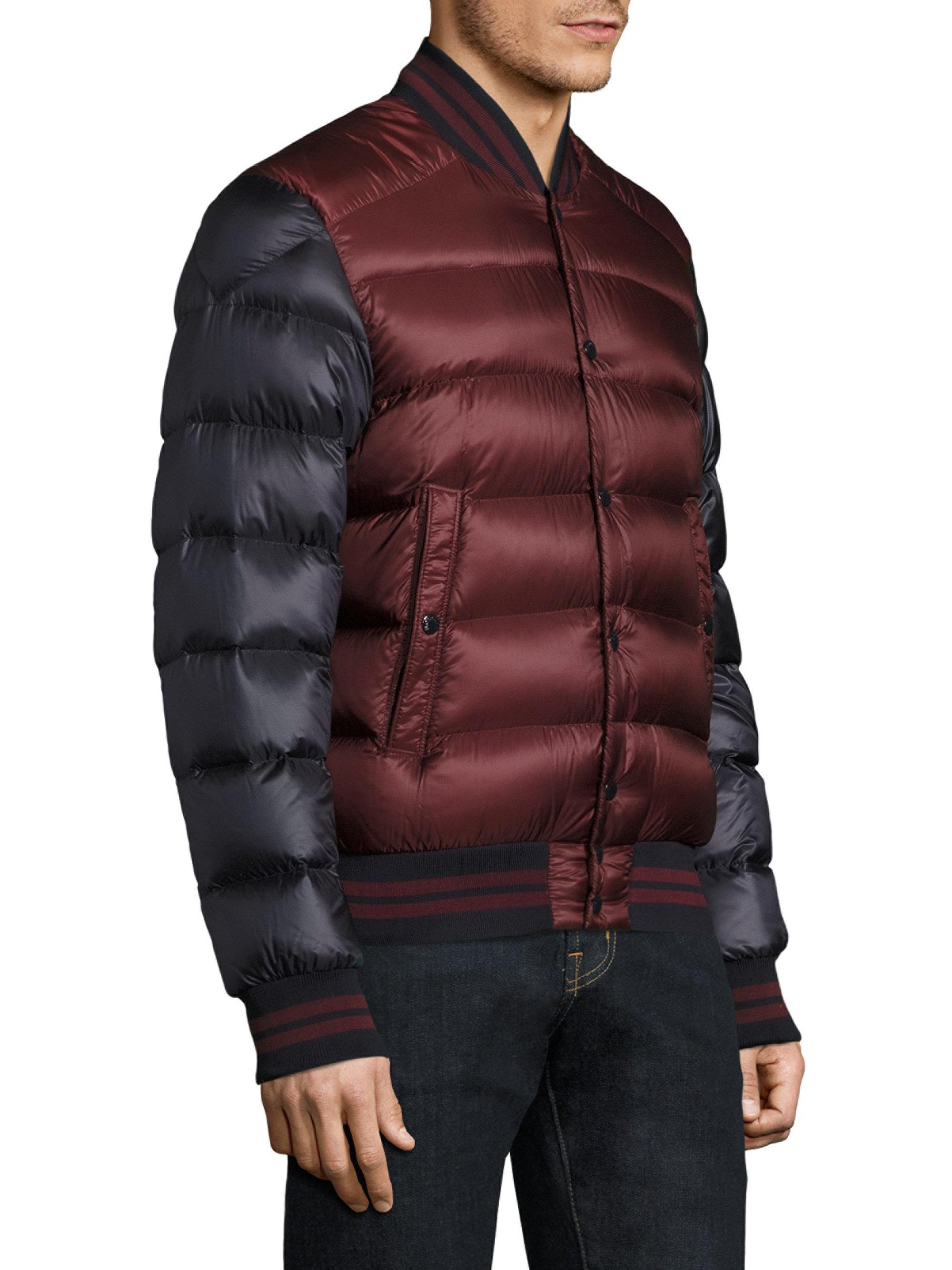 083c15cb7 Moncler Bradford Two-tone Finished Puffer Jacket in Red for Men - Lyst