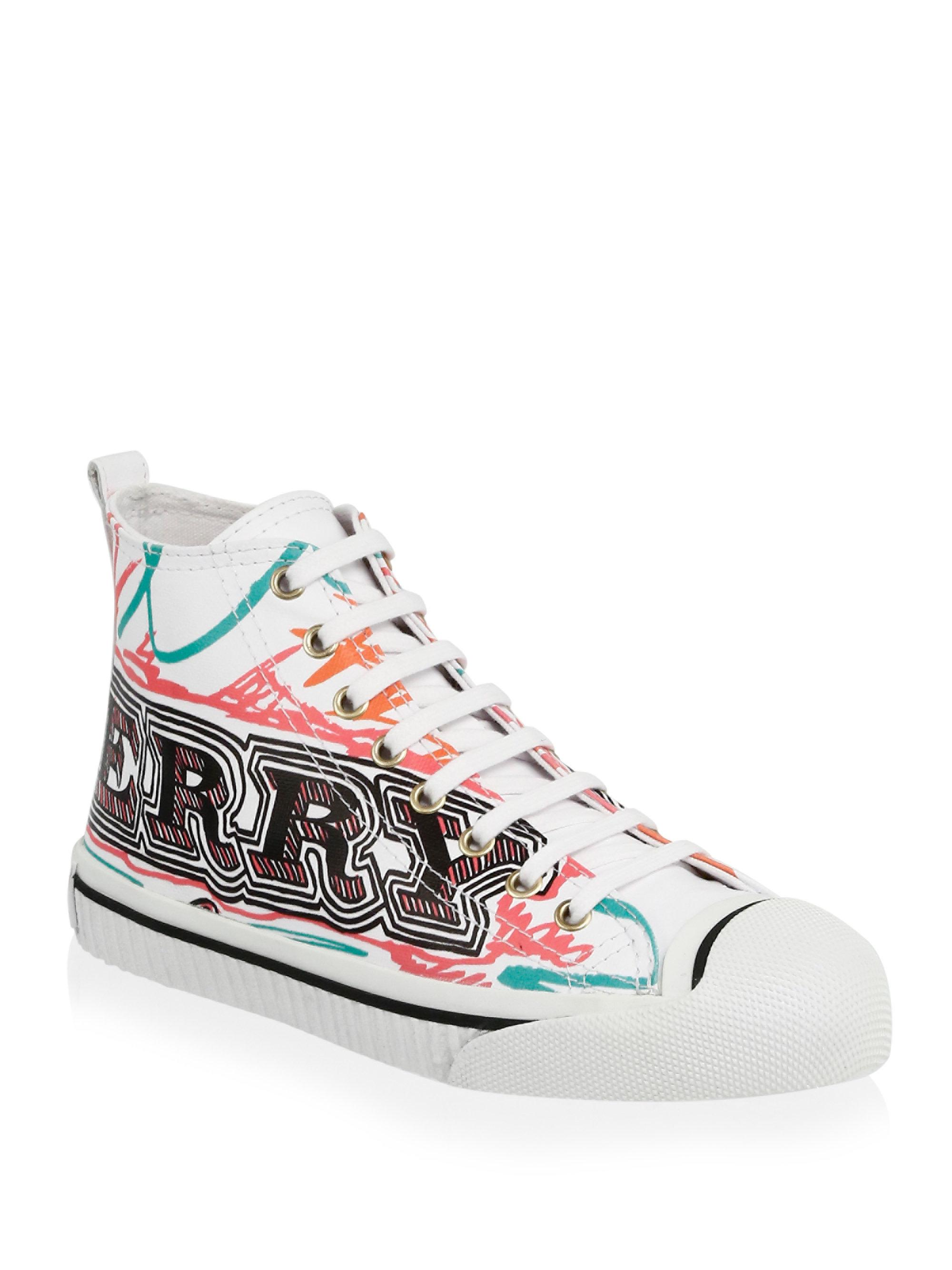 Burberry Leather Kingly Doodle Print