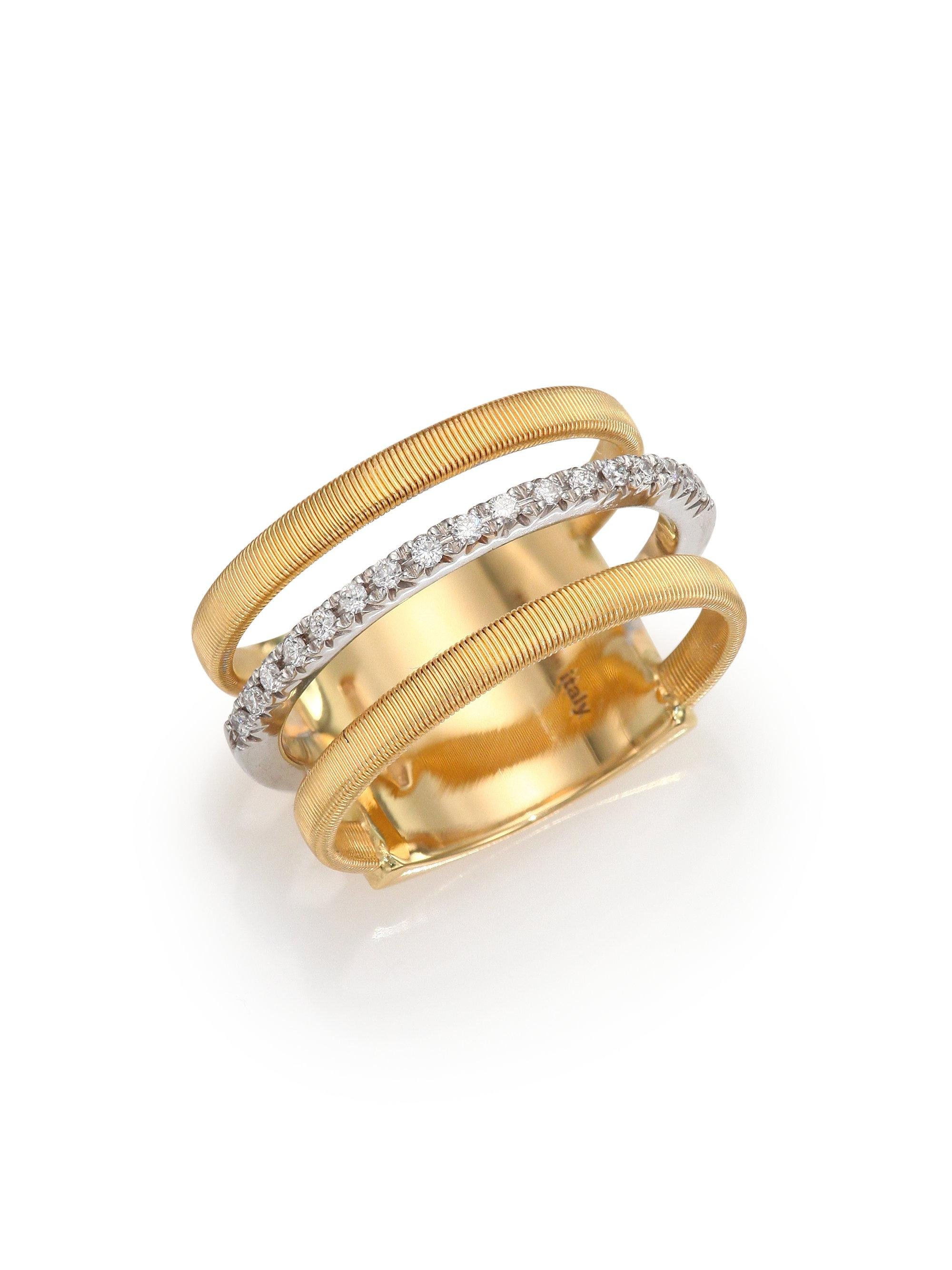 Marco Bicego Masai Ring with Diamonds in 18K Yellow Gold vk9fWy