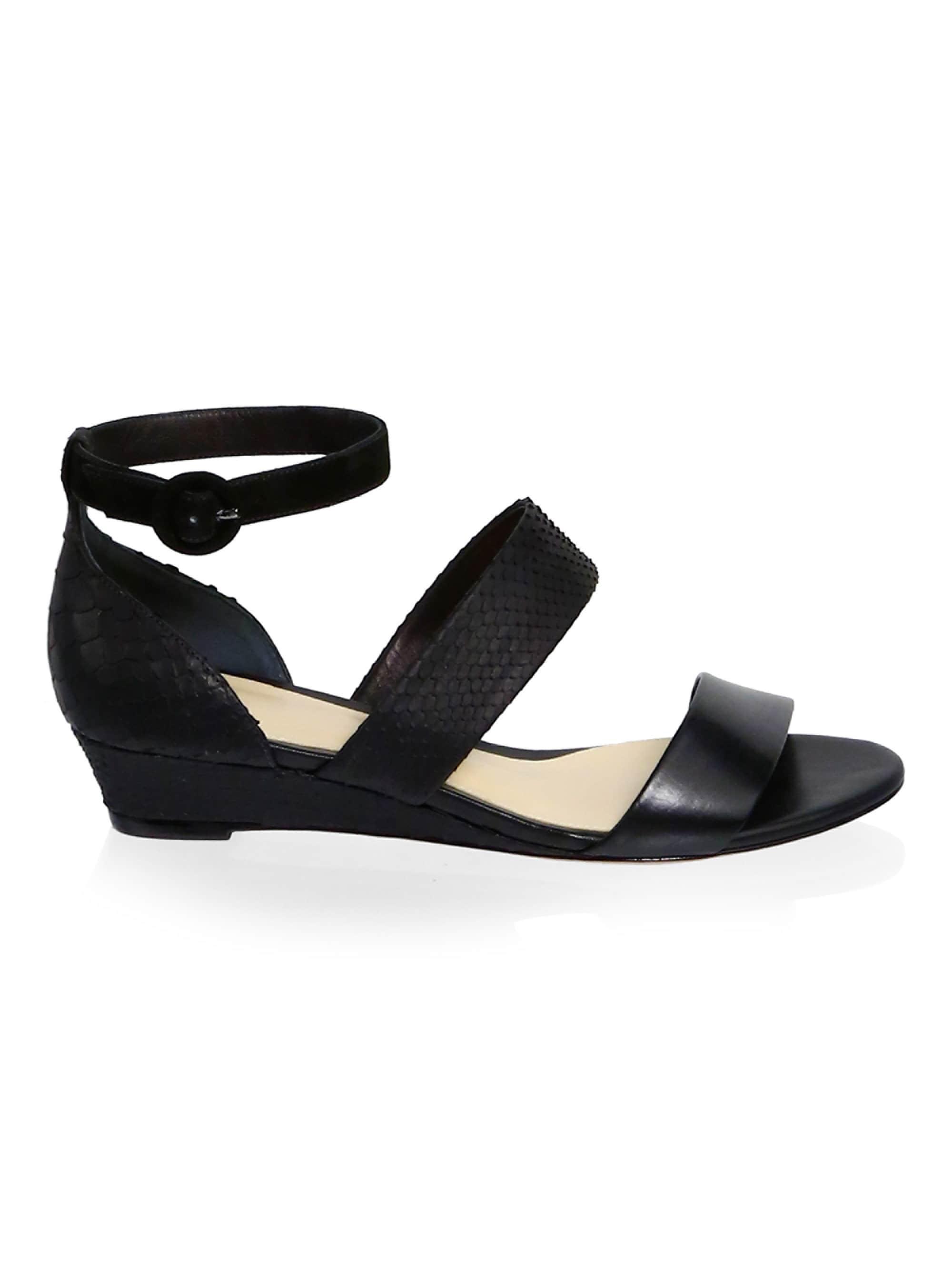 f1ef8f42452 Lyst - Alexandre Birman New Yanna Python   Leather Platform Sandals ...