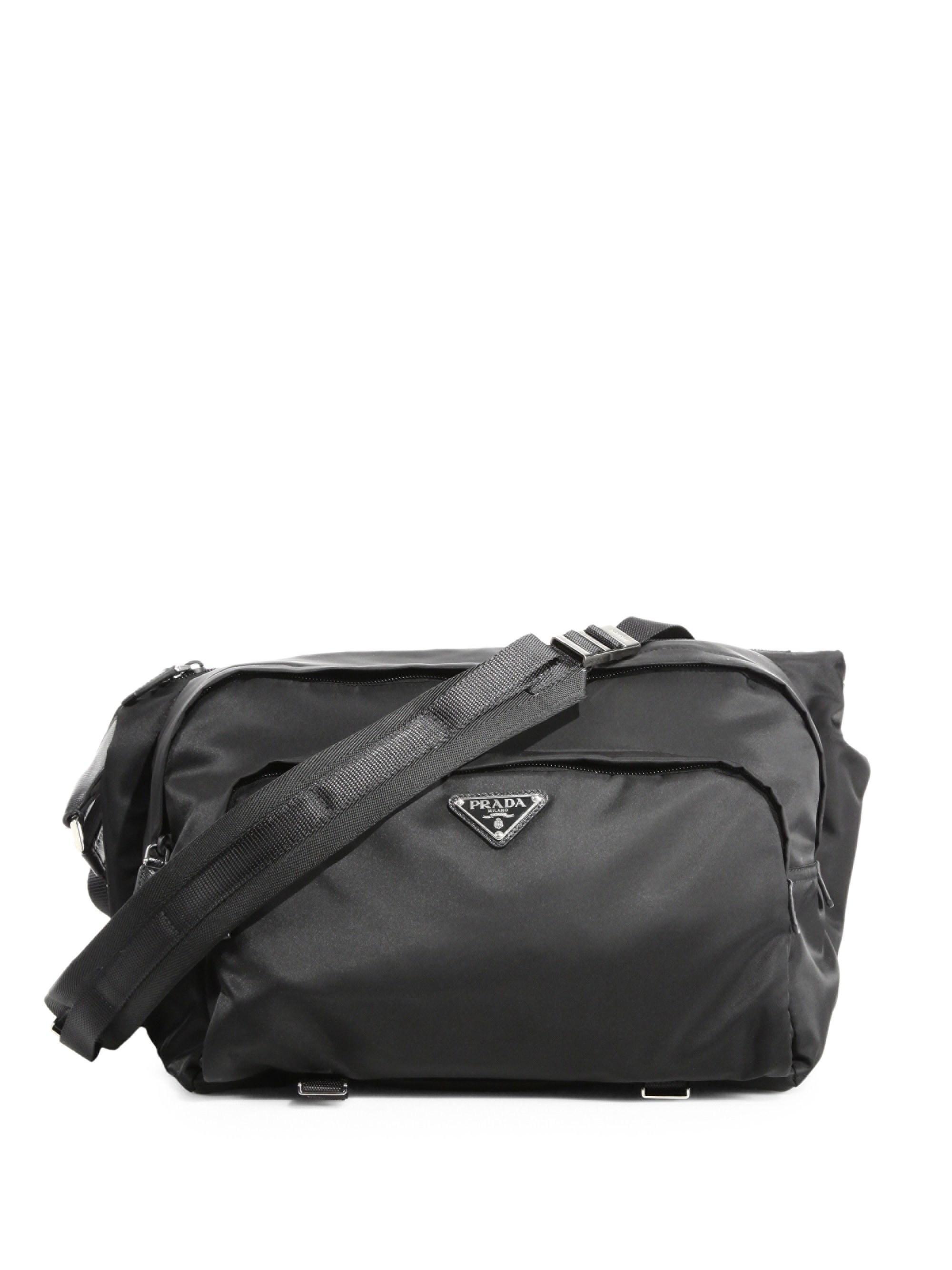 3f2ed3e49ca5 Prada - Black Bandoliera Nylon Waist Pack for Men - Lyst. View fullscreen