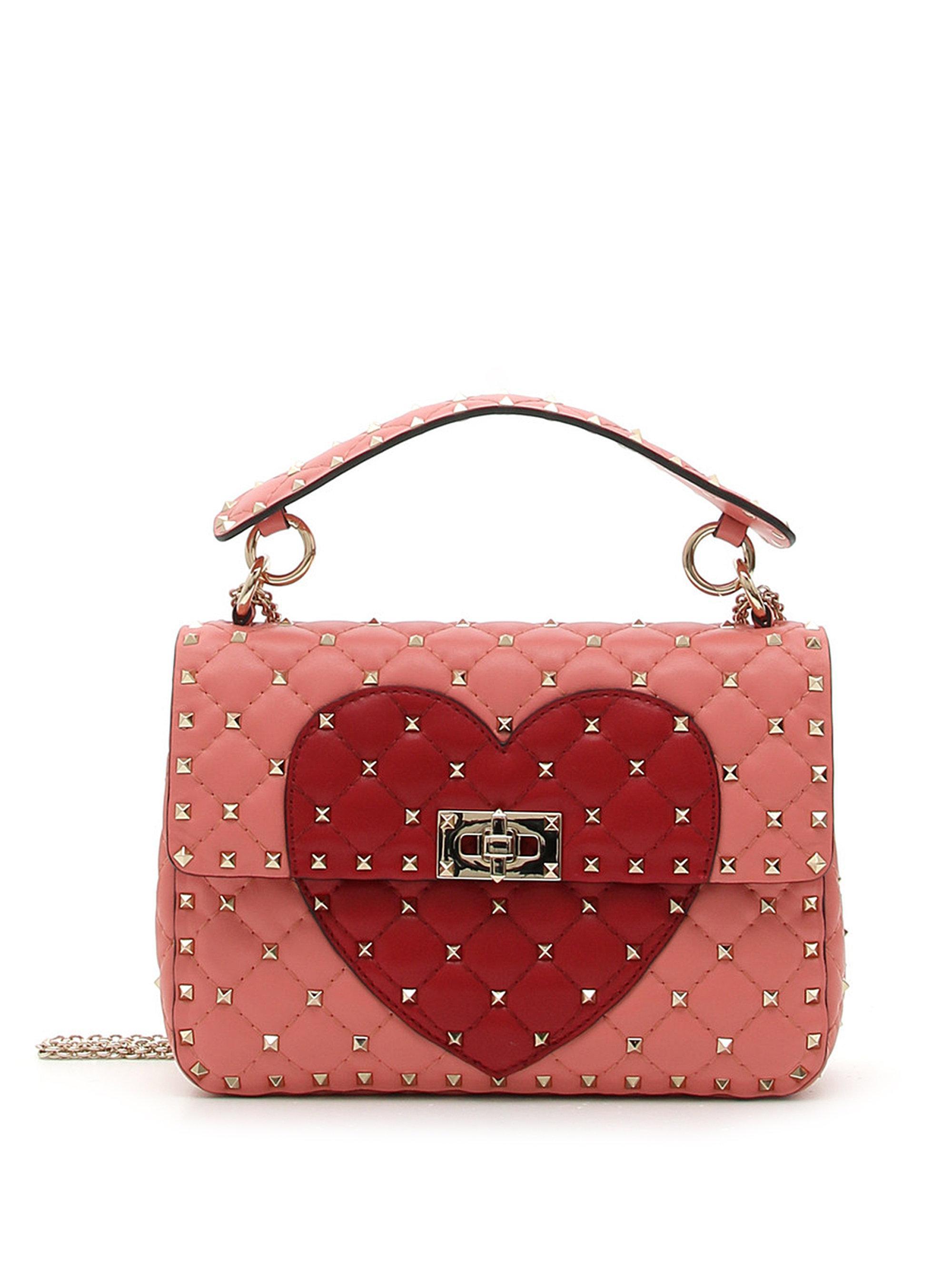Heart Rockstud shoulder bag - Black Valentino B8nj6jrEpw