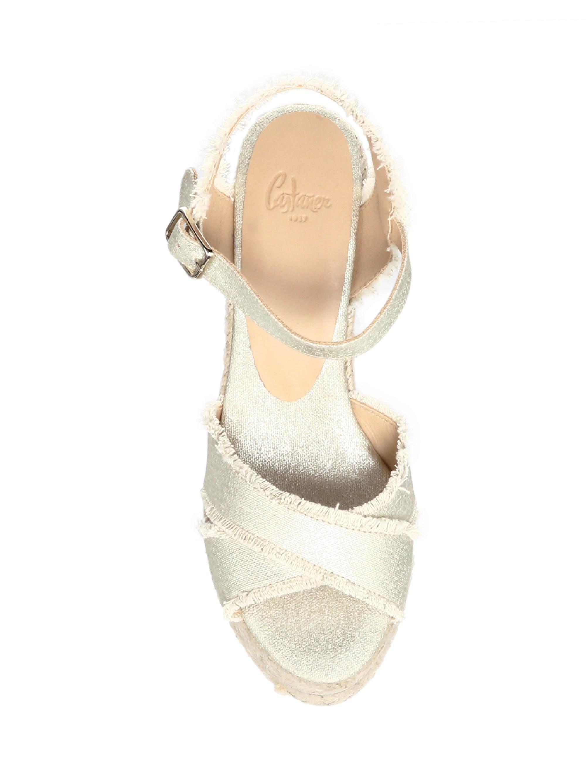 78ea0b712 Lyst - Castaner Women's Bromelia Metallic Wedge Leather Sandals ...