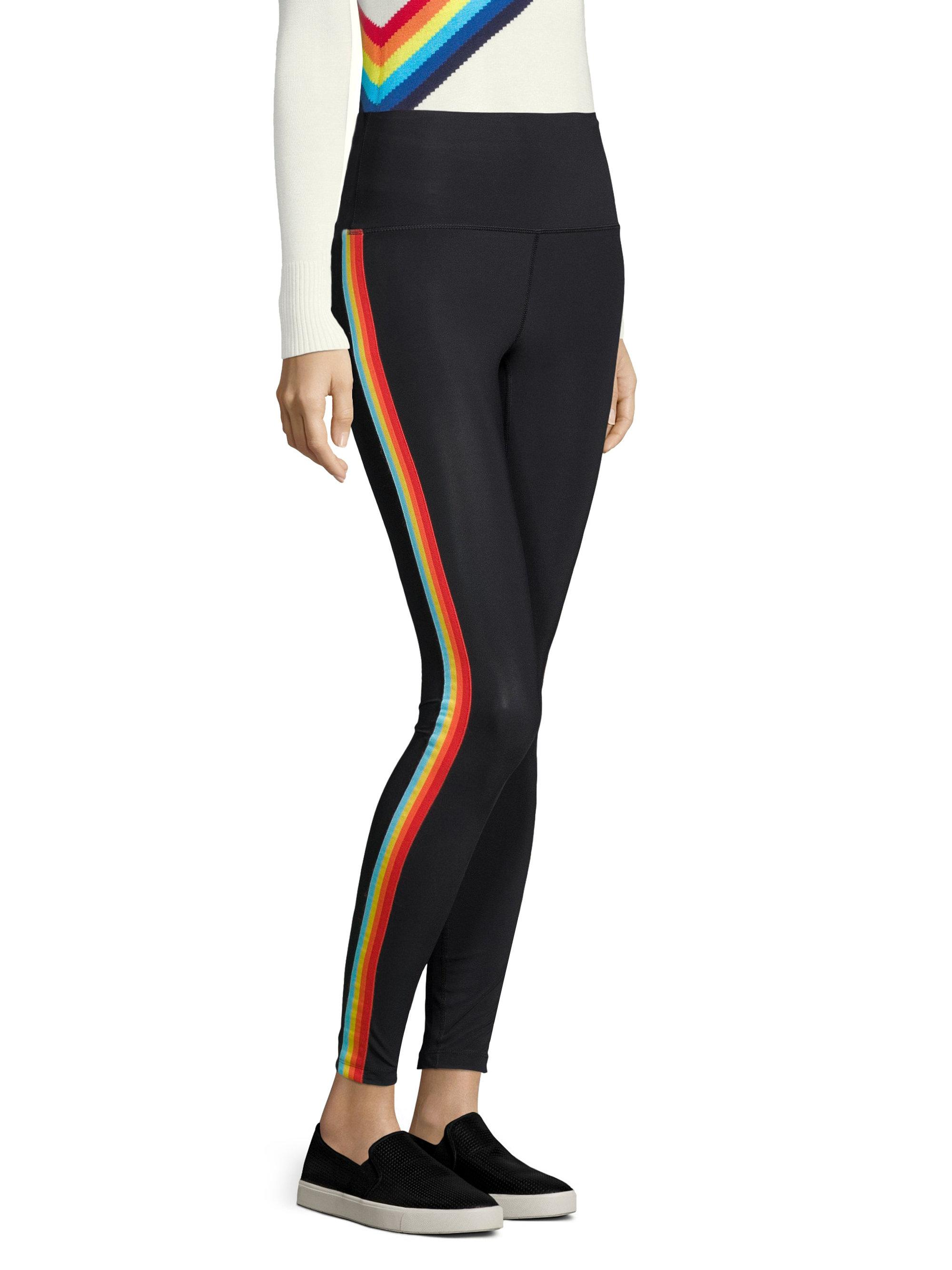 55f3be68508bc Spiritual Gangster Rainbow Striped Leggings in Black - Lyst
