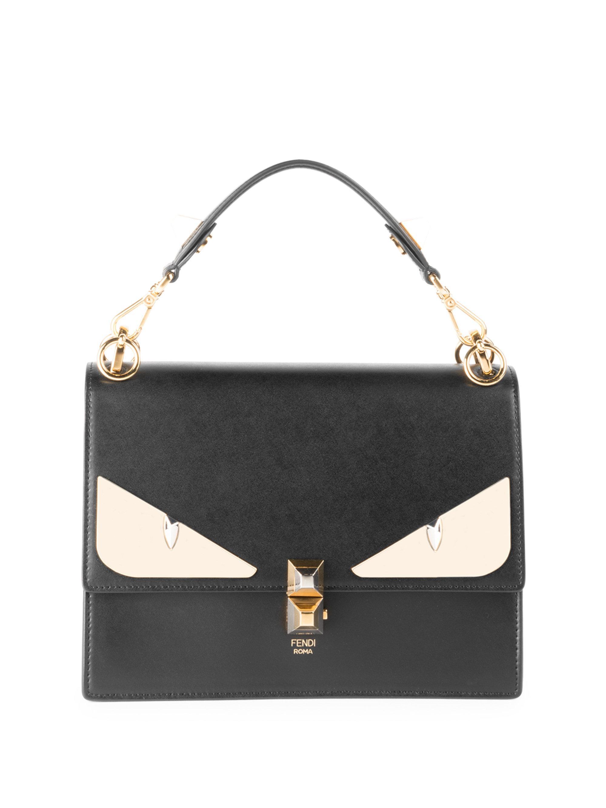 5c2ada782629 Fendi Kan I Monster Eye Black Shoulder Bag in Black - Save 24% - Lyst