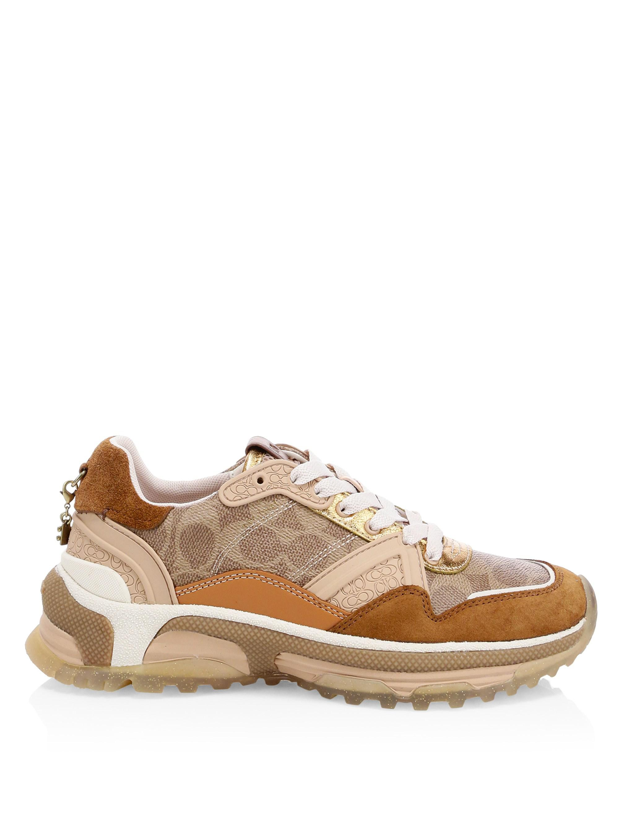 COACH Leather Signature Runner Sneakers