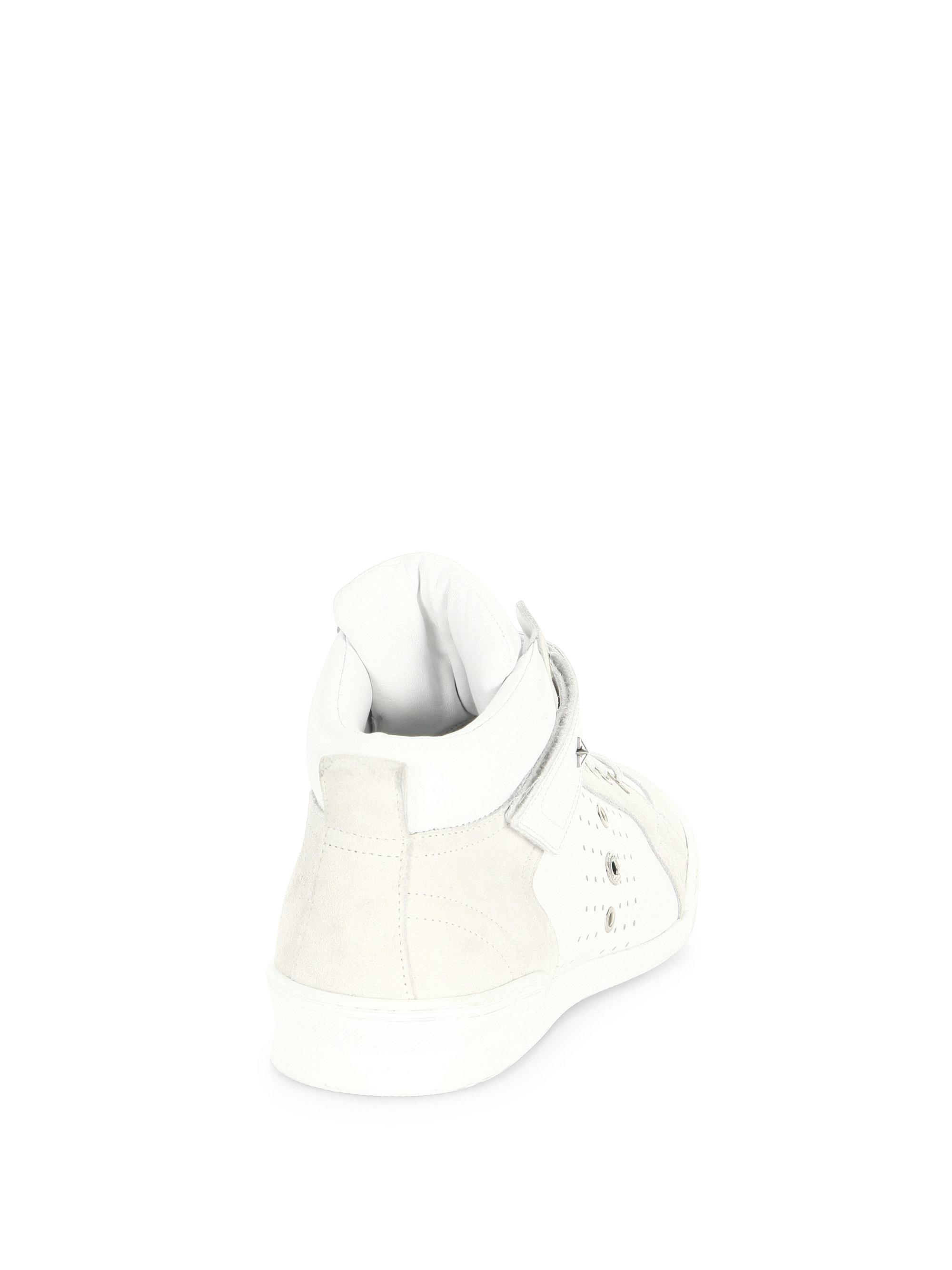 Jimmy choo Perforated High-Top Trainer Sneakers Ha4Xk