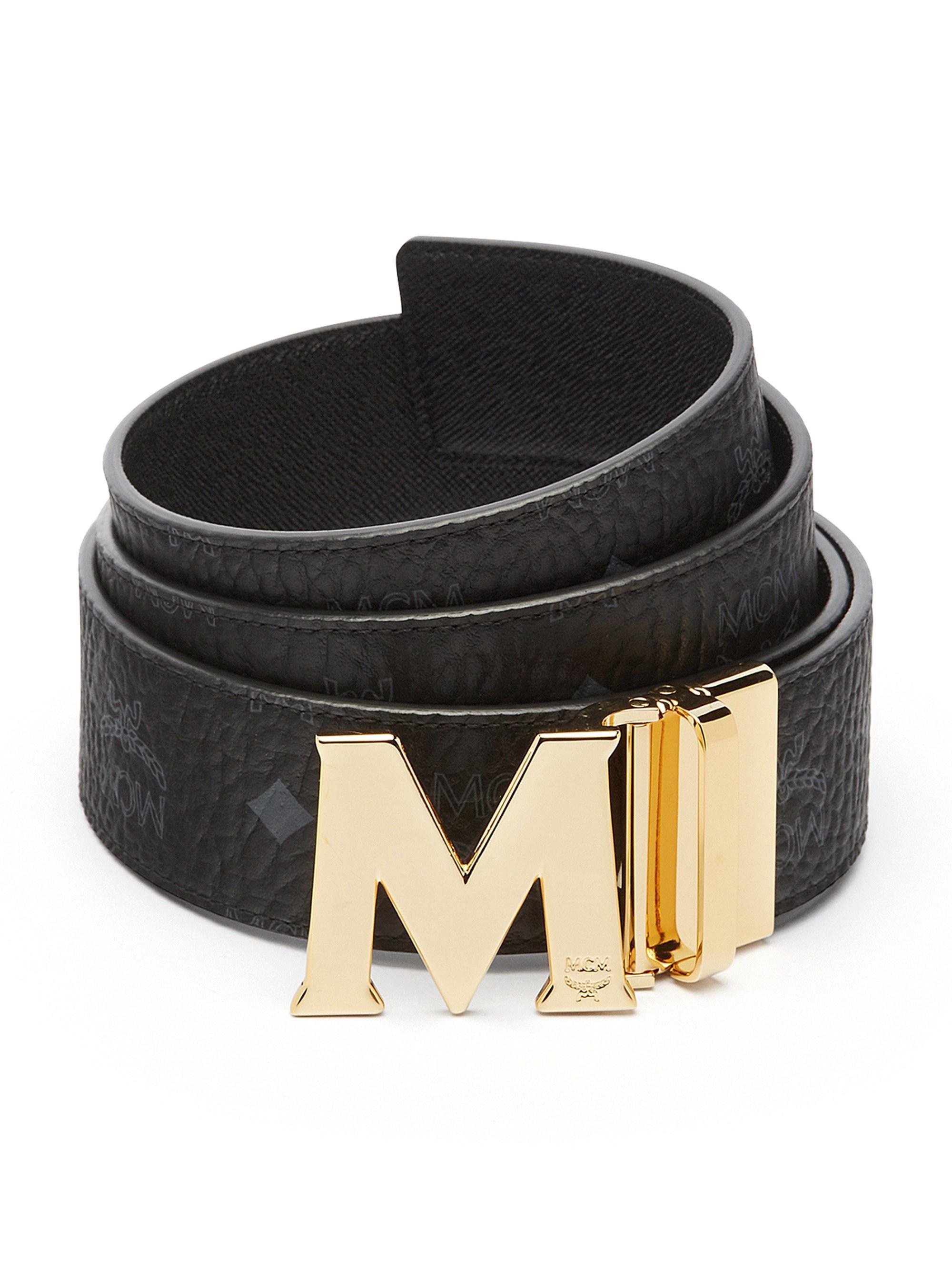 755581c4b89e Lyst - MCM Claus Reversible Belt (white) Men s Belts in Black for ...