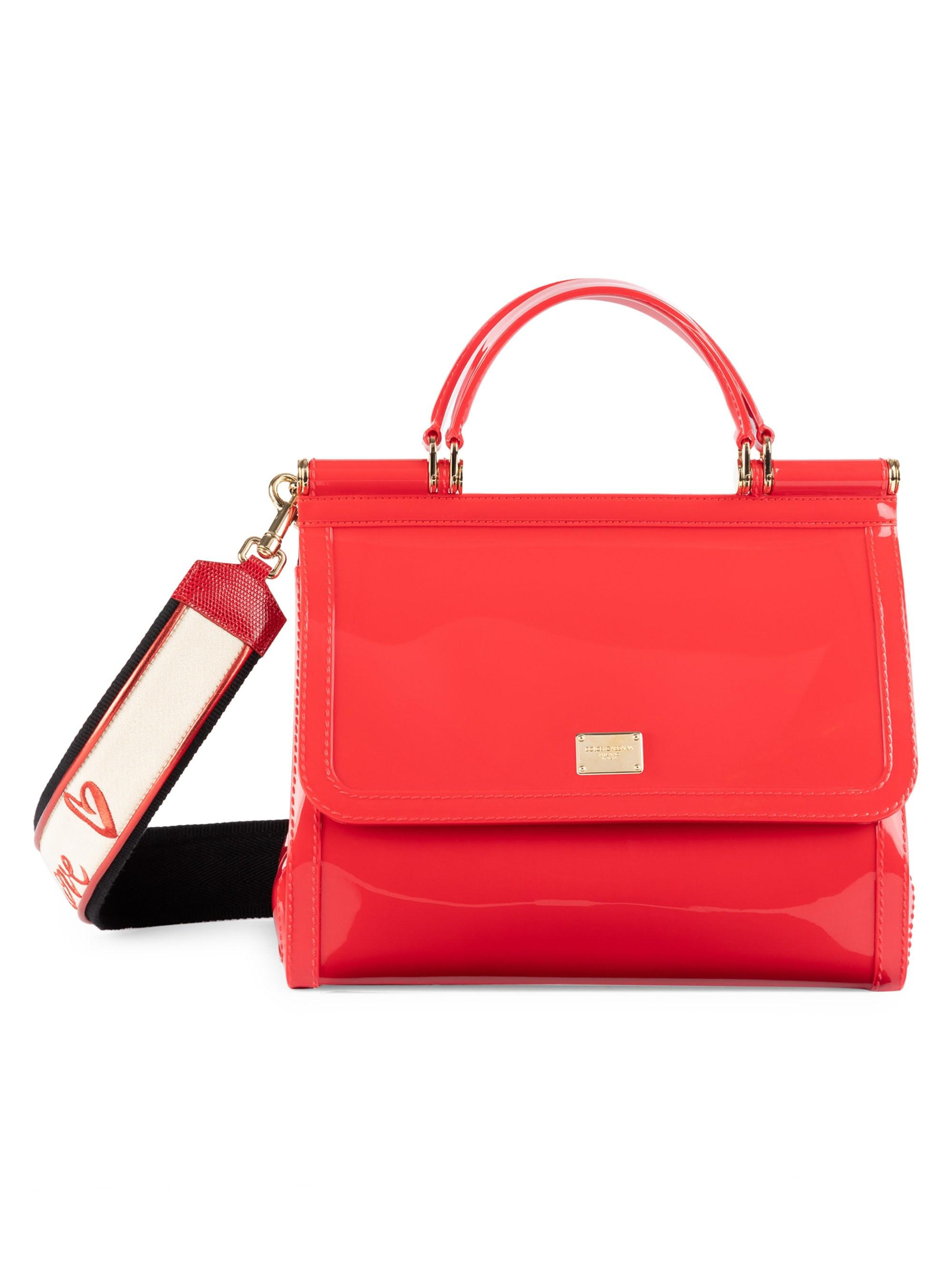 2c7c3810ef Lyst - Dolce   Gabbana Sicily Pvc Top Handle Bag in Red