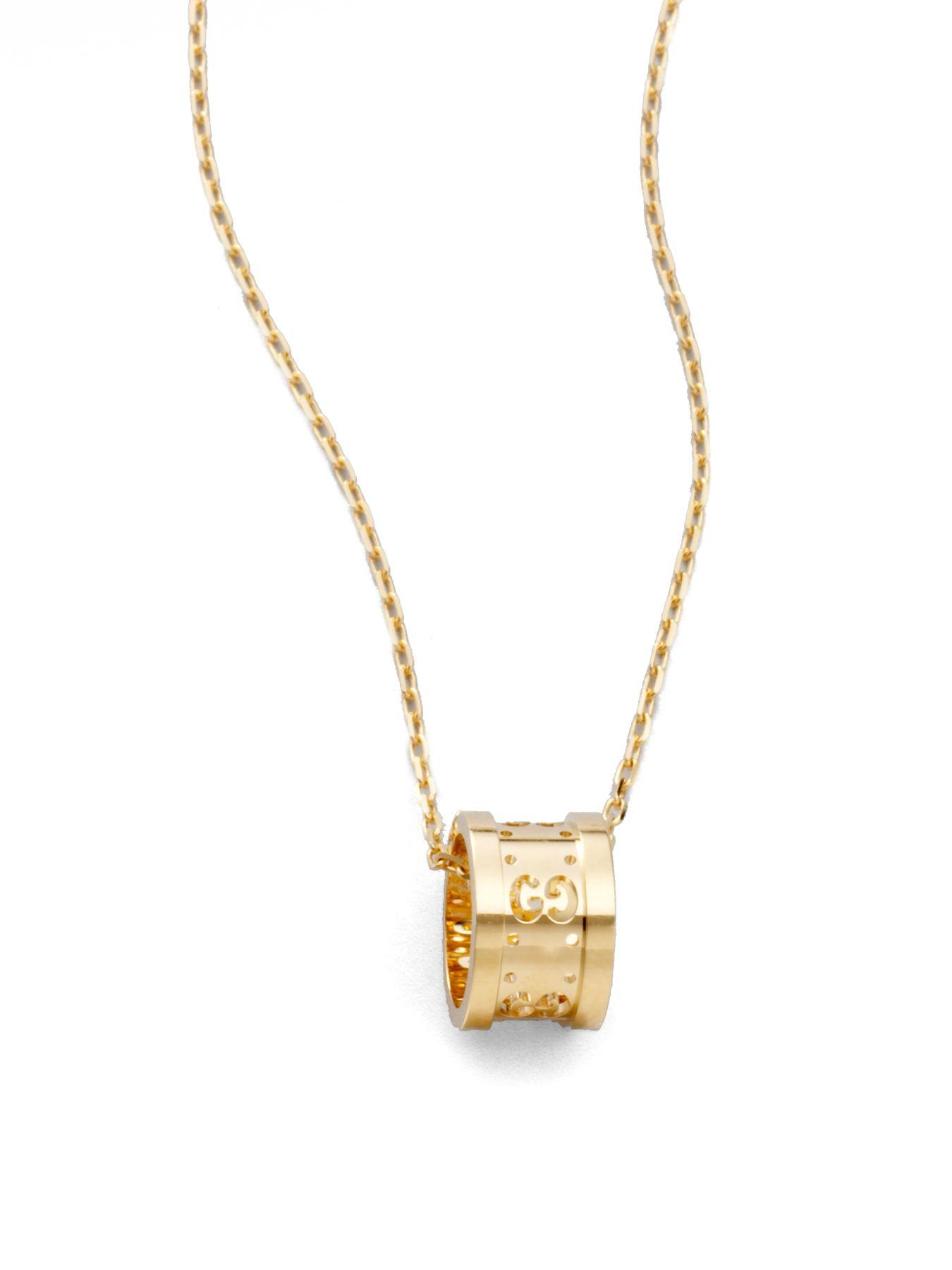 Gold Barrel Chain Necklace