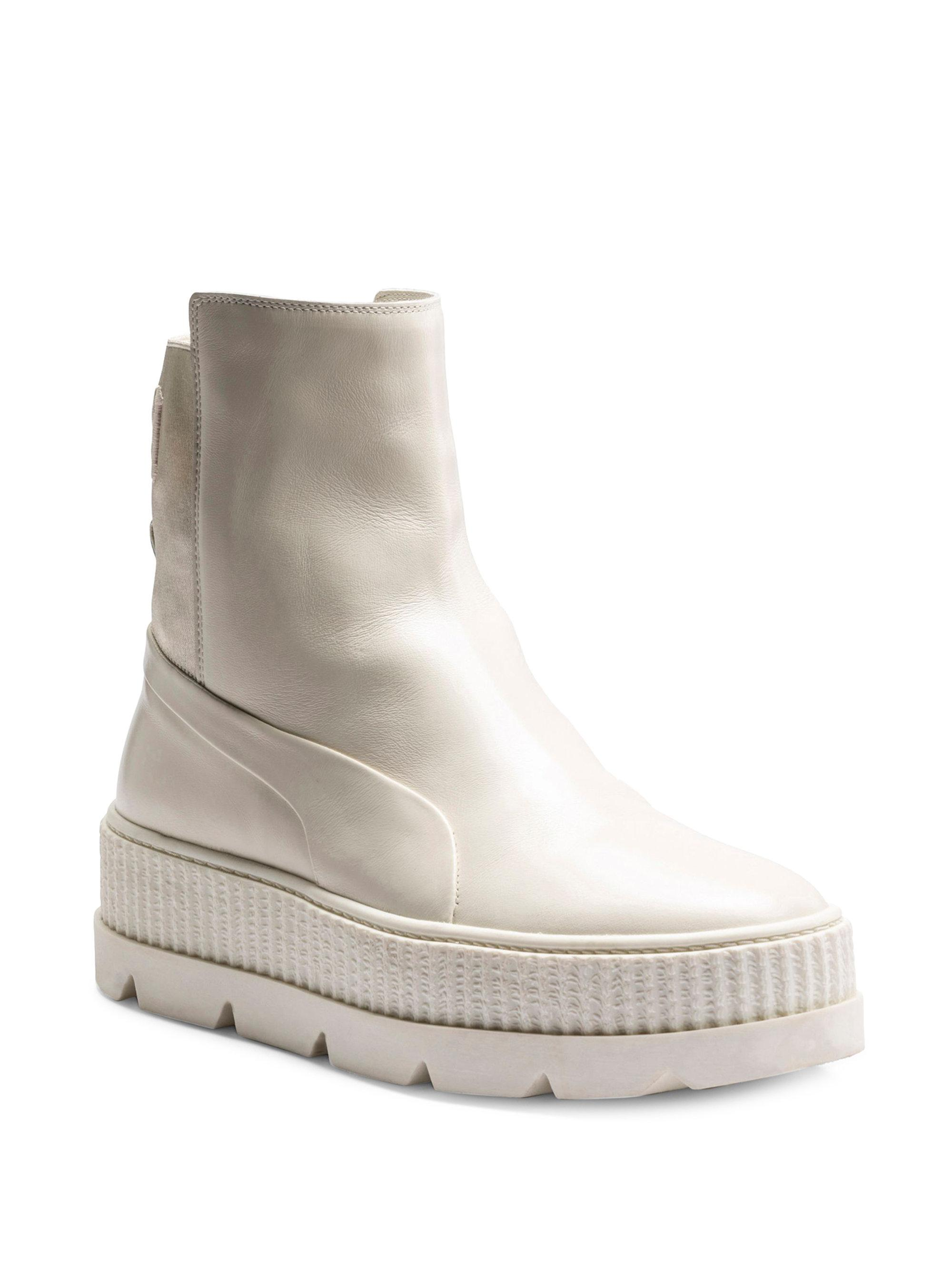 PUMA Leather Chelsea Sneaker Boots in