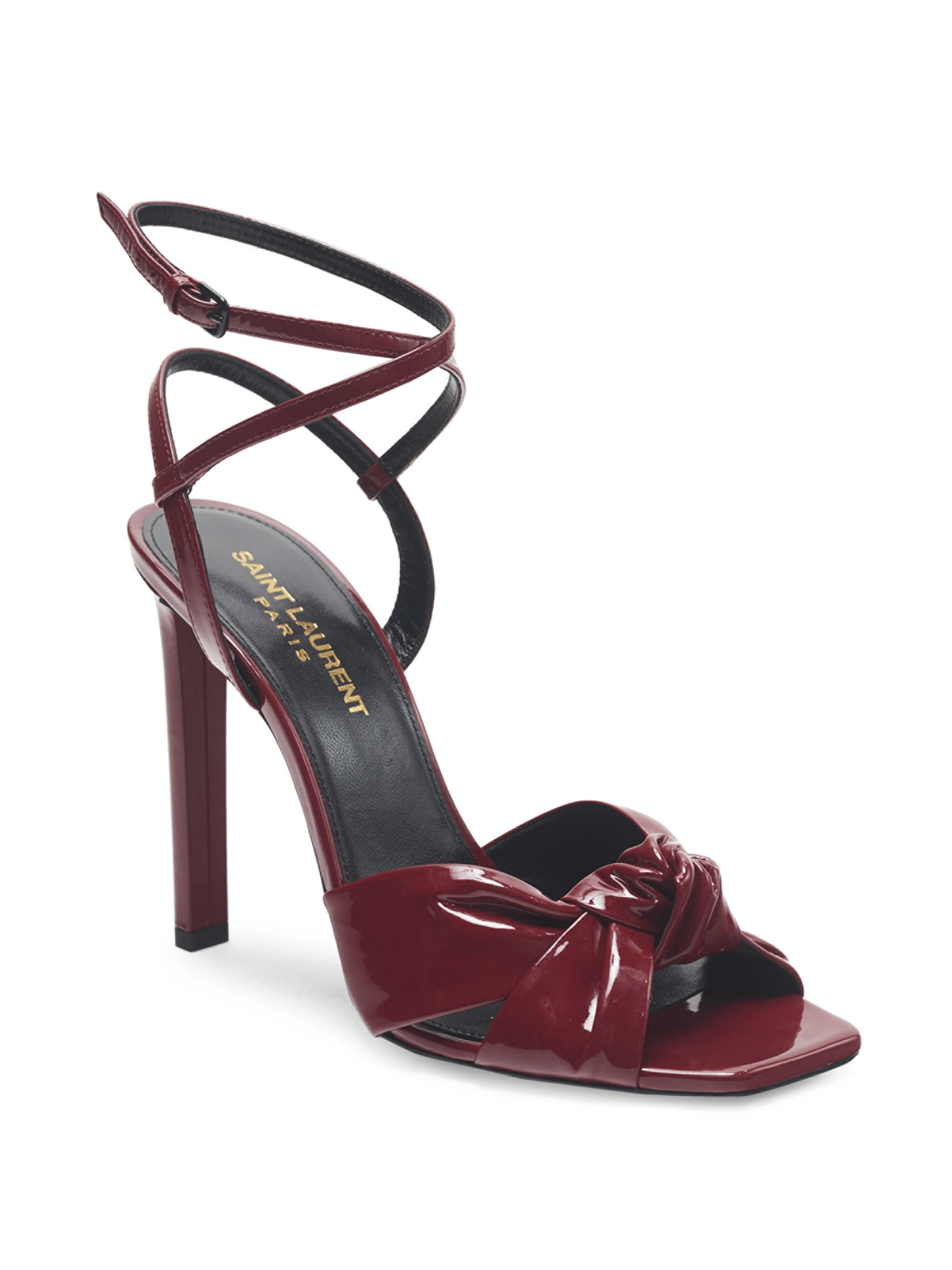 Amy Patent Leather Bow Ankle strap Sandals
