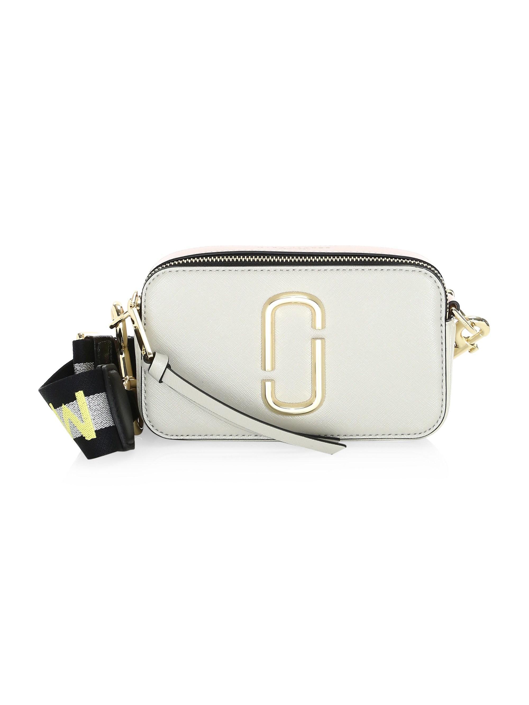 6dc8f0f6ea3 Lyst - Marc Jacobs Women's Snapshot Leather Crossbody Bag - Blue Sea