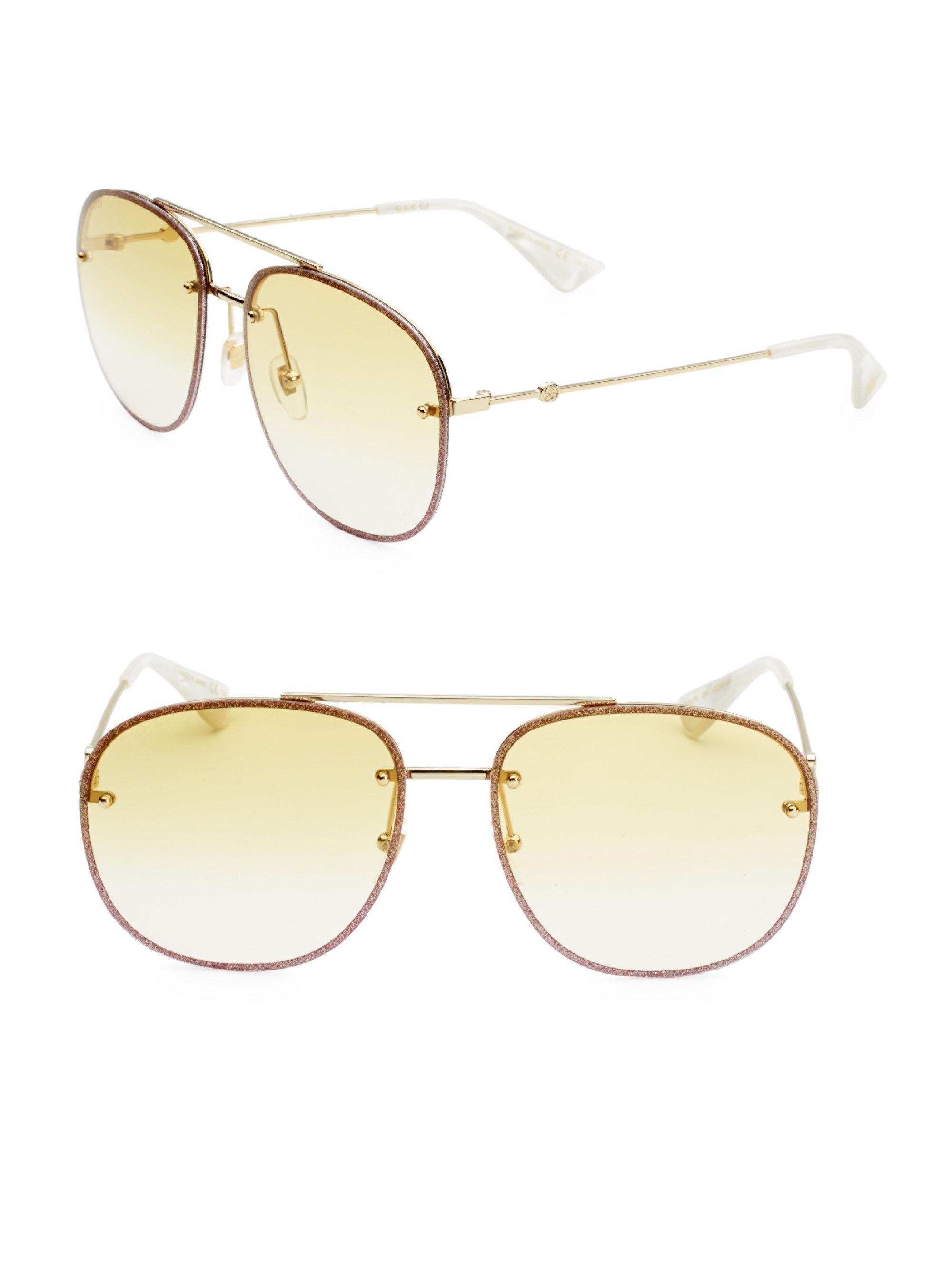Gafas De Aviador Brillo-embellecido Gucci iOp5T