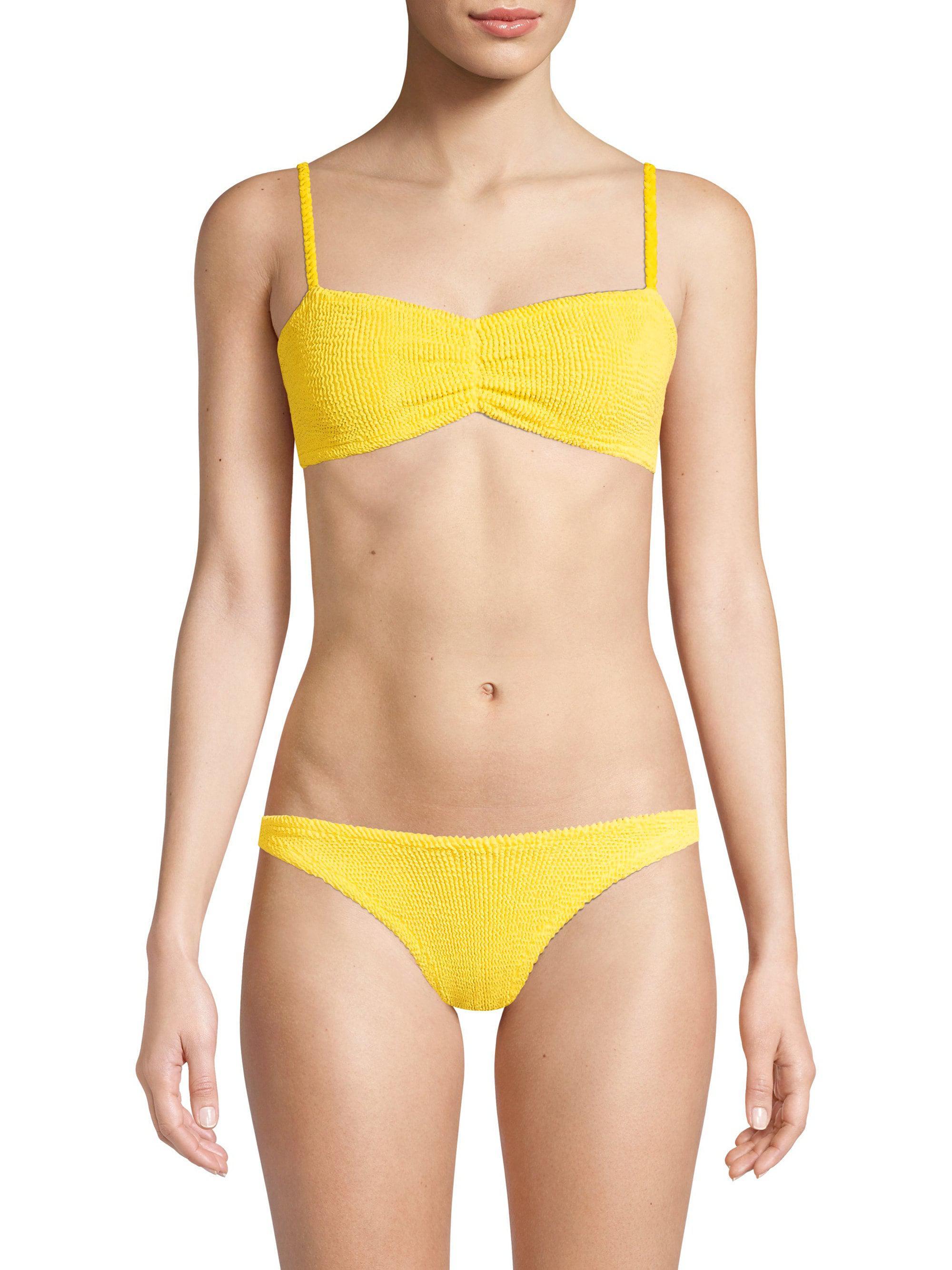 6c036f67e45bc Hunza G Women's Trina Two-piece Bikini - Yellow in Yellow - Lyst
