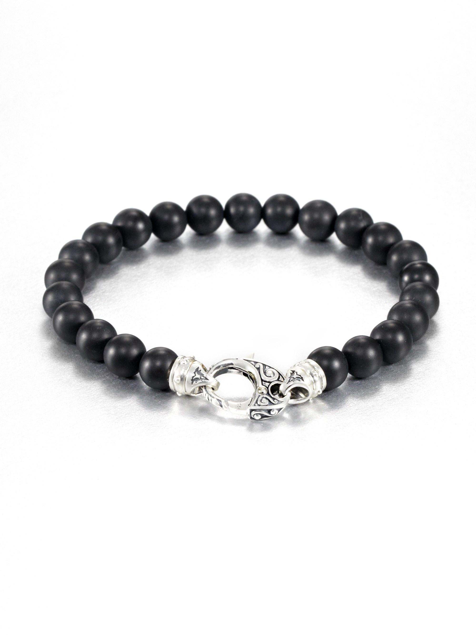 Stephen Webster Malachite Beaded Bracelet In Onyx Black