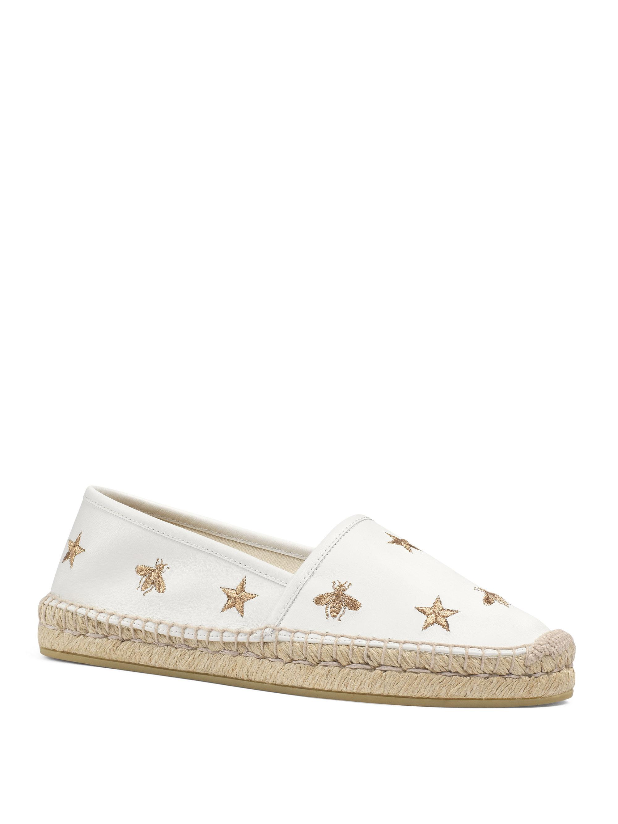 Pilar raffia collapsible-back espadrilles Gucci