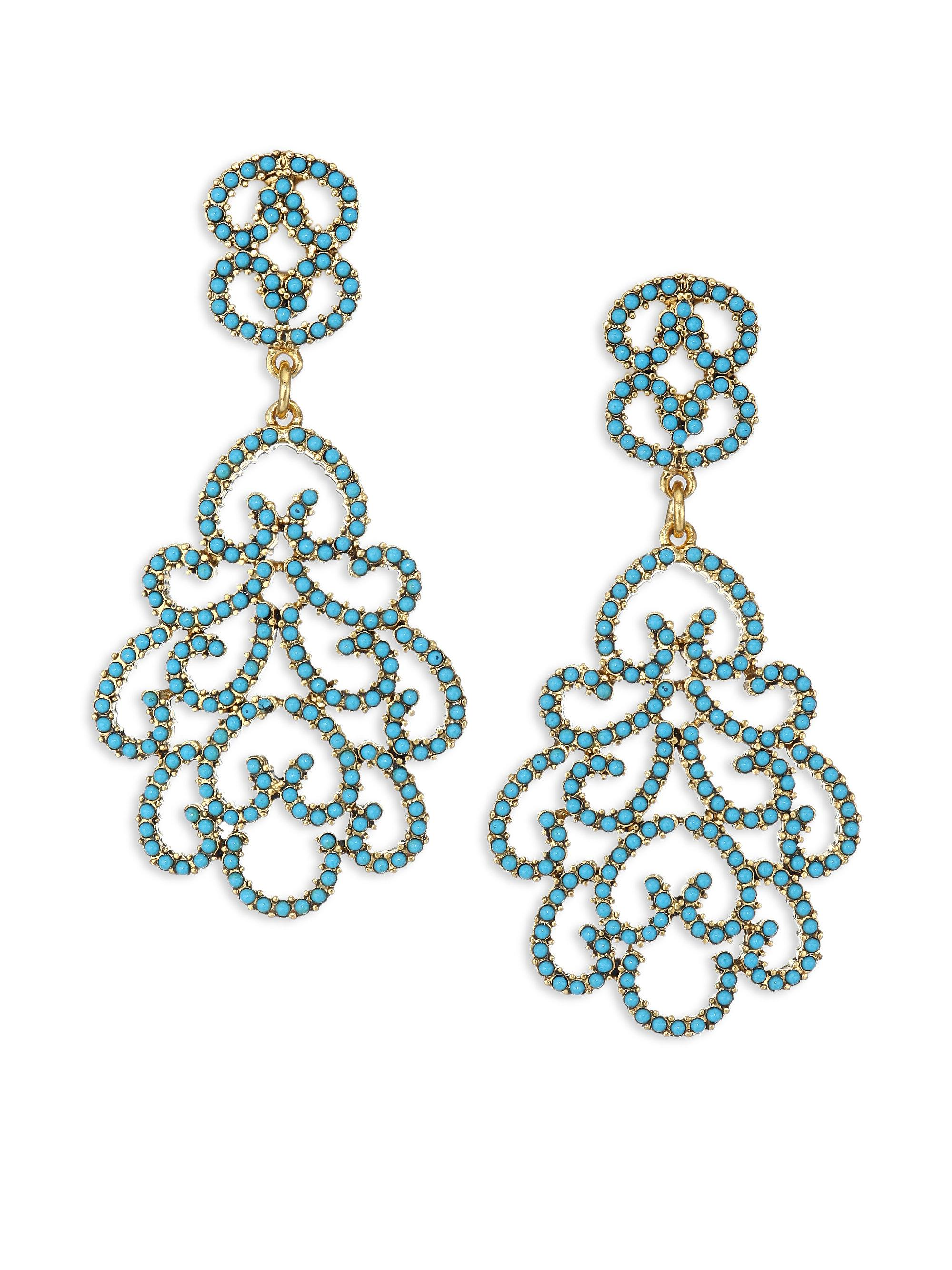 Lyst kenneth jay lane resin clip on chandelier earrings in green kenneth jay lane womens green resin clip on chandelier earrings aloadofball Choice Image