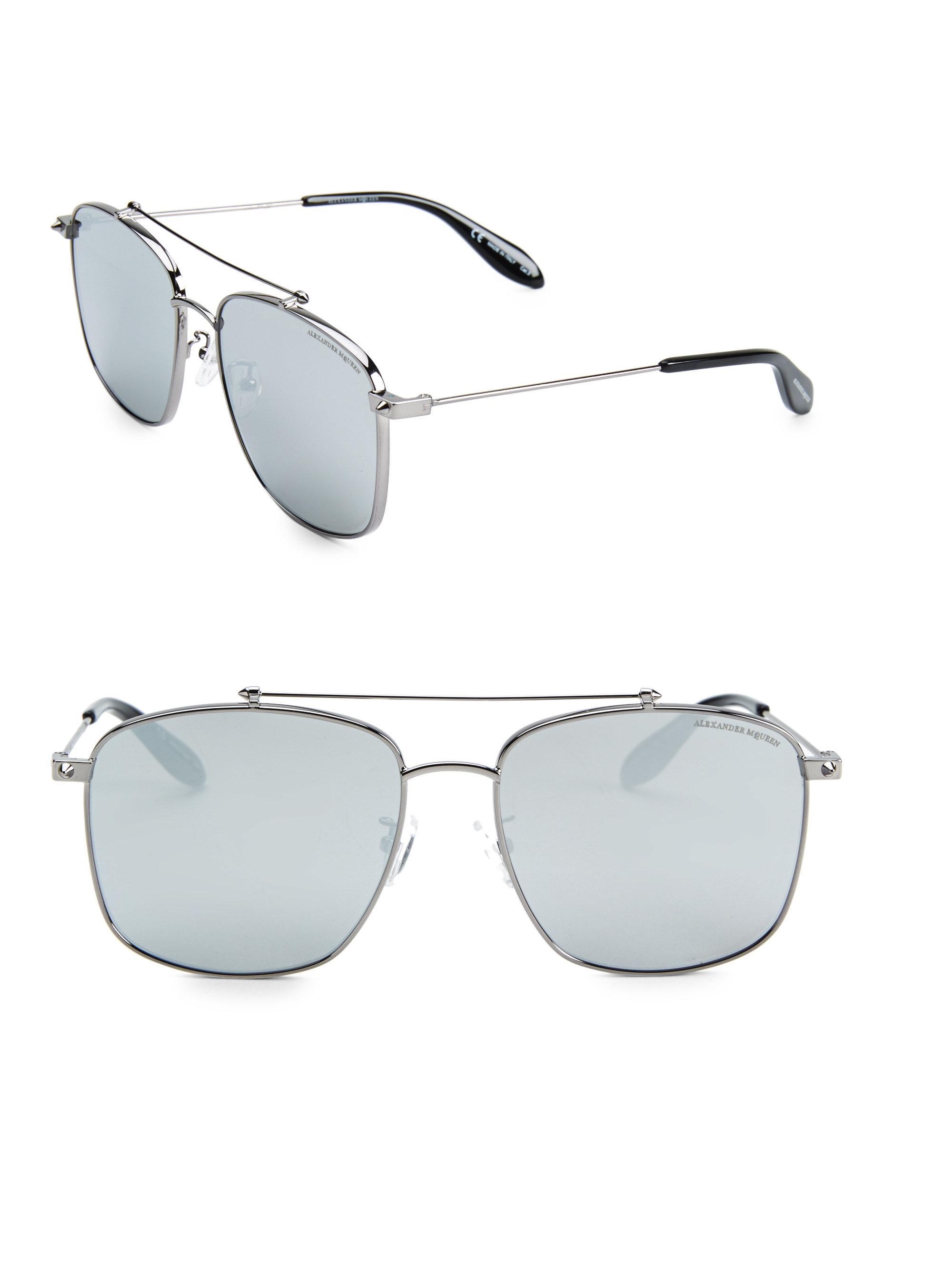 00554b96027 Lyst - Alexander Mcqueen 59mm Square Sunglasses for Men