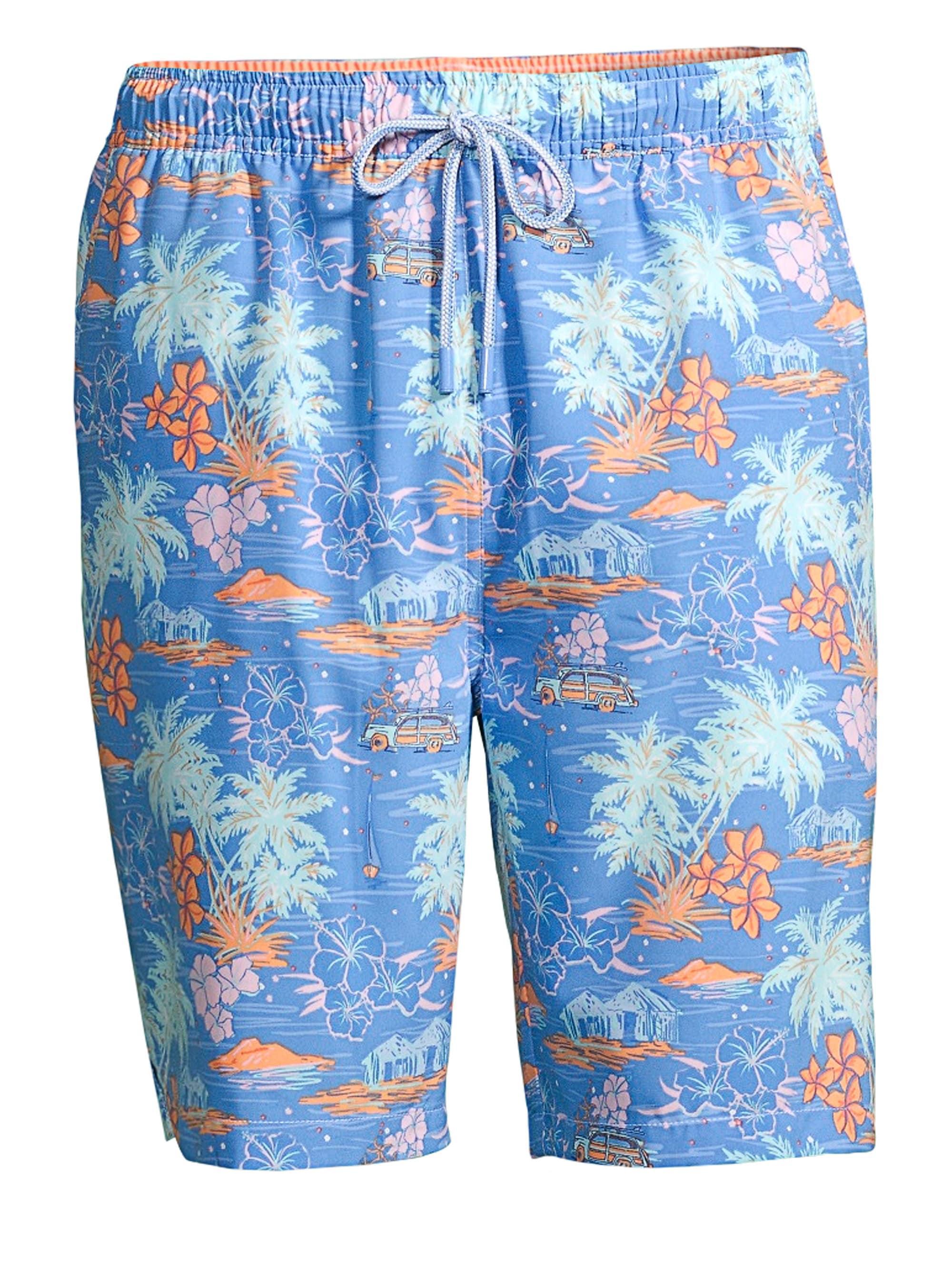 73fa6eb476 Lyst - Peter Millar Men's Hawaiian Sunset Print Swim Shorts - Blue ...