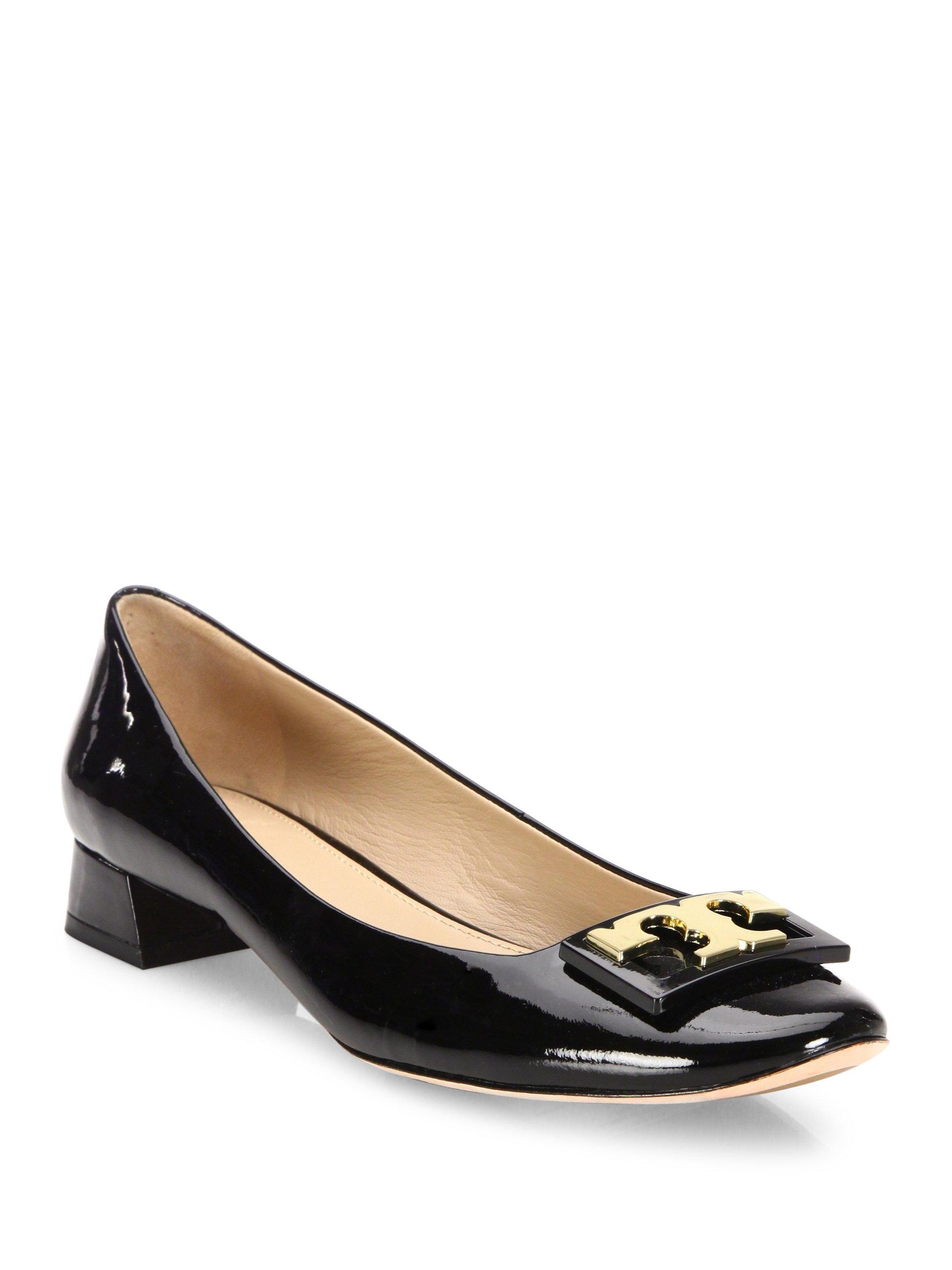 Lyst Tory Burch Gigi Patent Leather Block Heel Pumps In