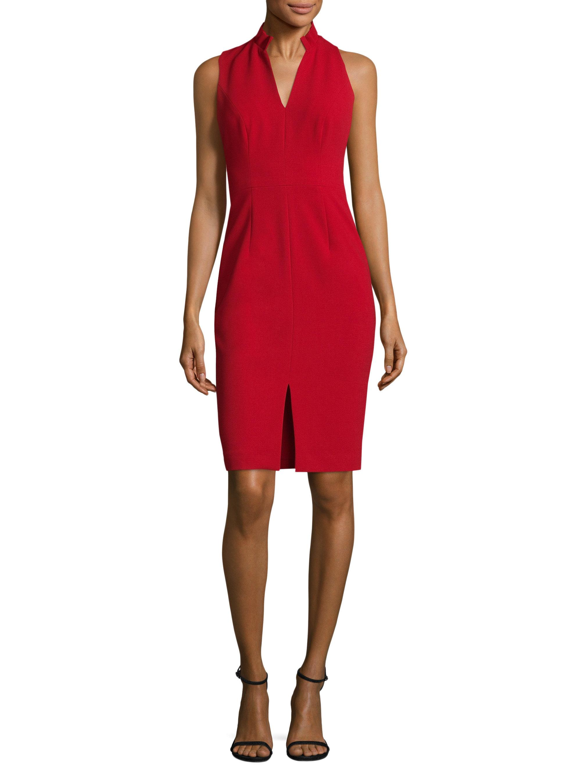 Lyst black halo antoinette sheath dress in red for Saks fifth avenue wedding guest dresses
