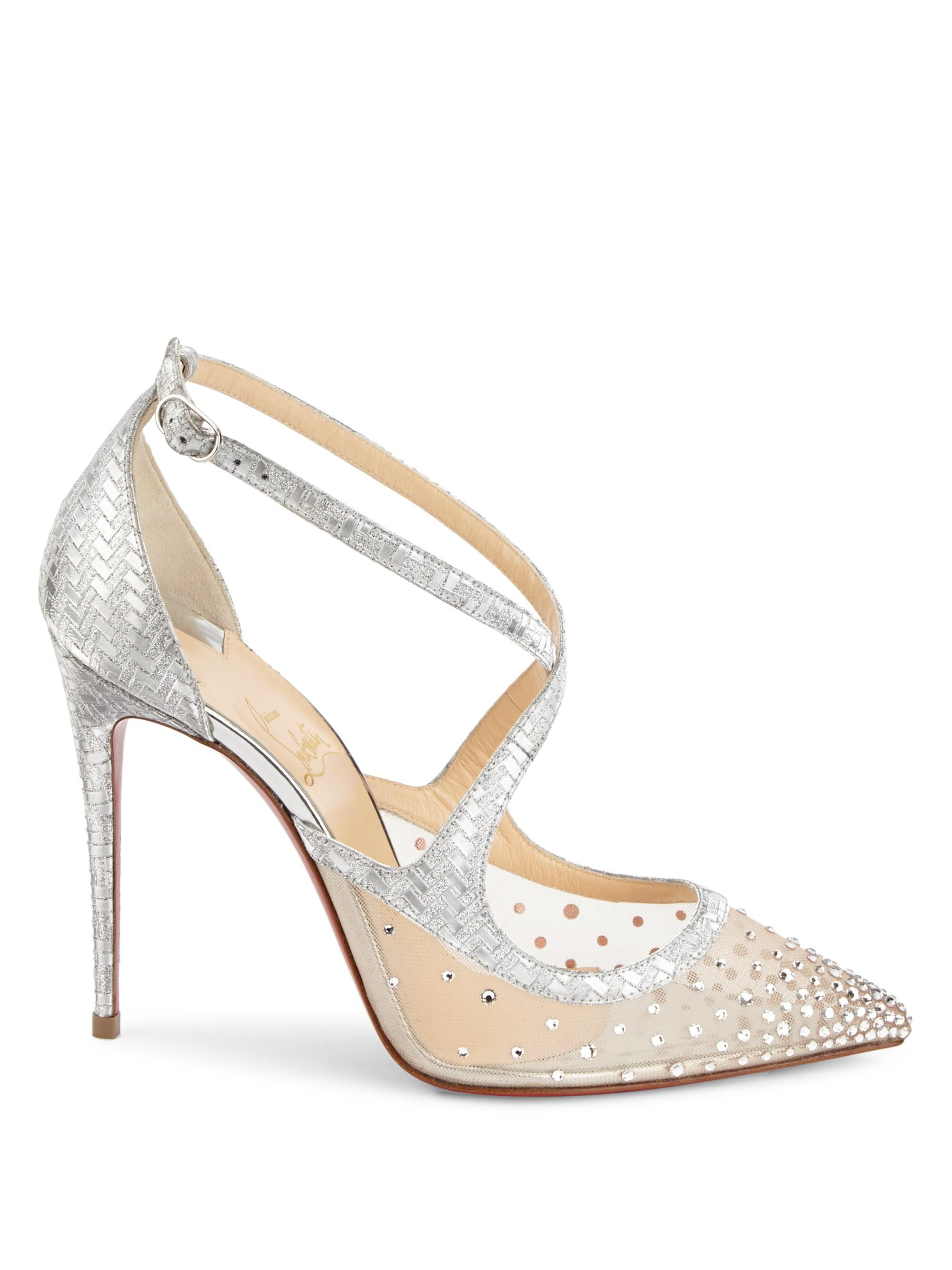 detailed look 57474 96360 Christian Louboutin Twistissima Strass 100 Metallic Leather Pumps