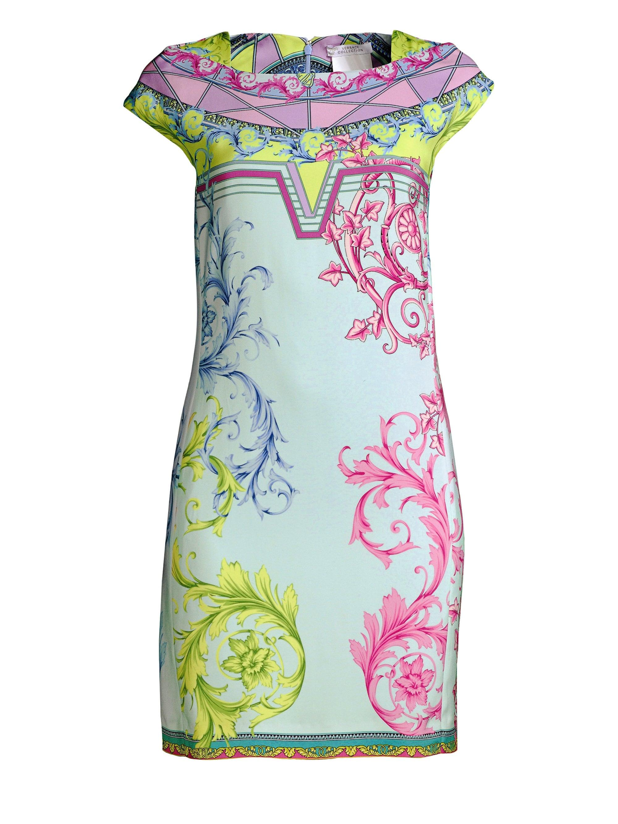 f29260ba Versace Women's Candy Ferris Wheel Print Mini Dress - Light Blue