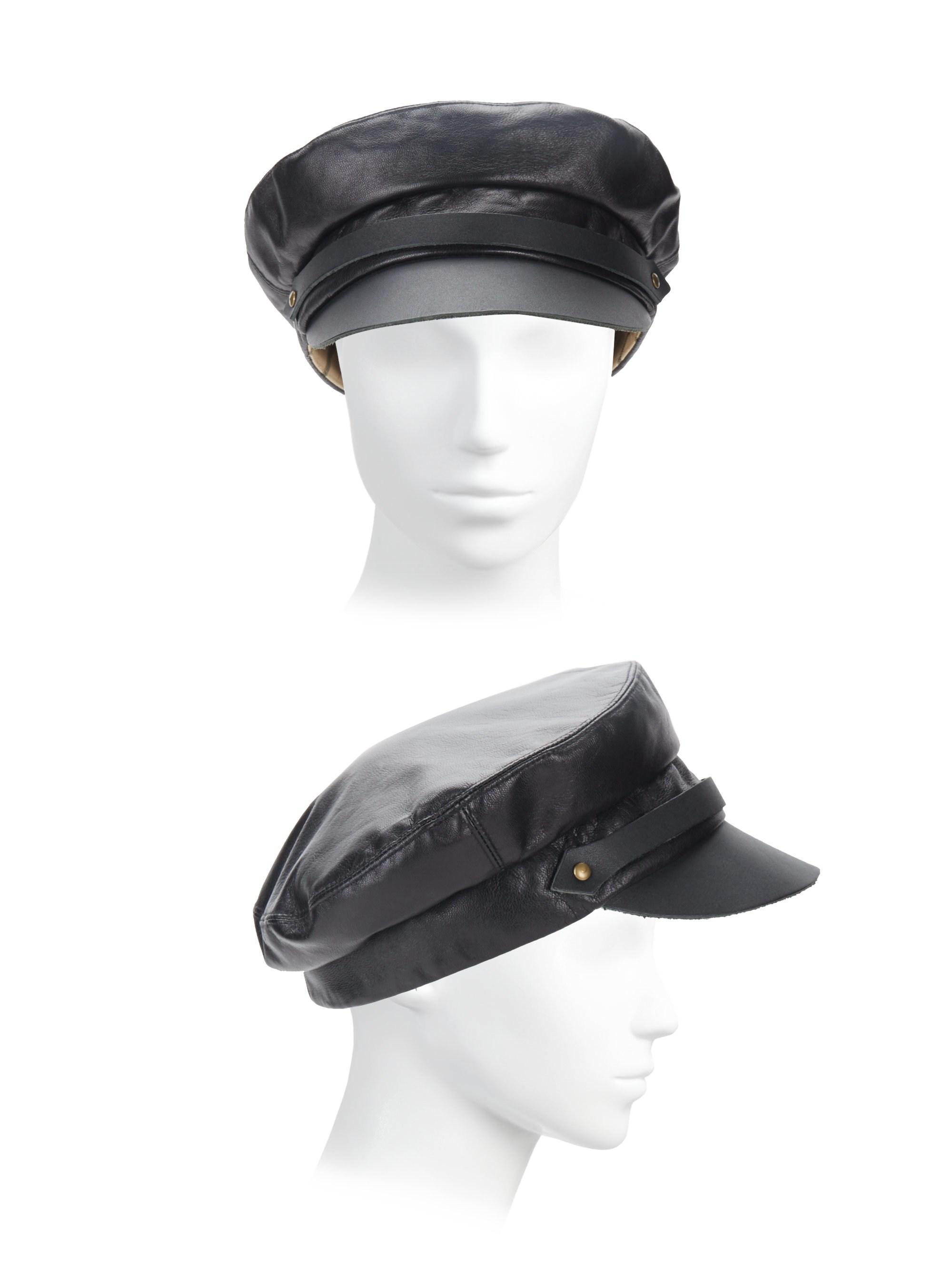b2e171b544274 Lola Hats Women s Leather Chauffeur Hat - Black in Black - Lyst