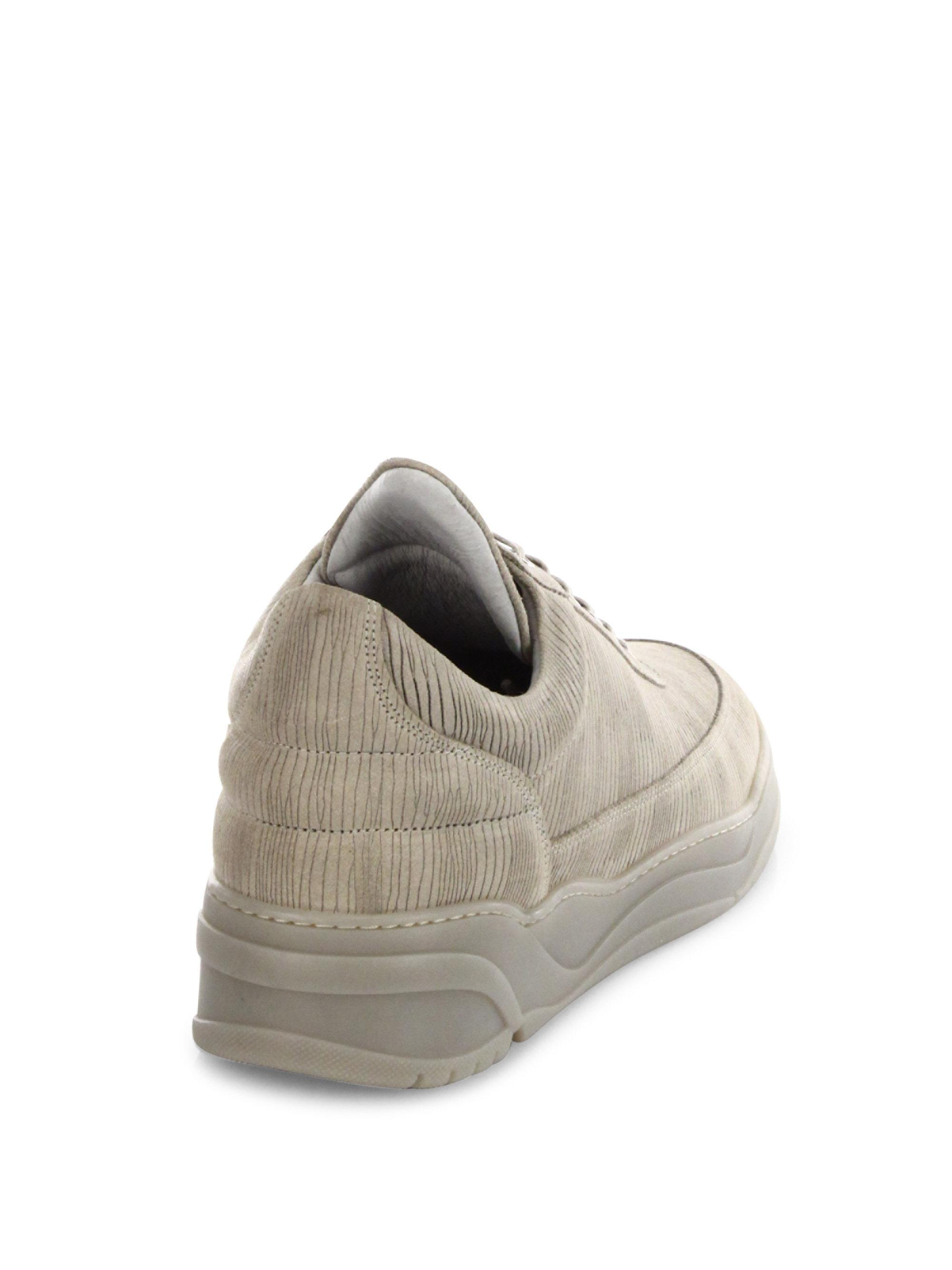 Filling pieces Astro Striped Suede Low-Top Sneakers M6b0v