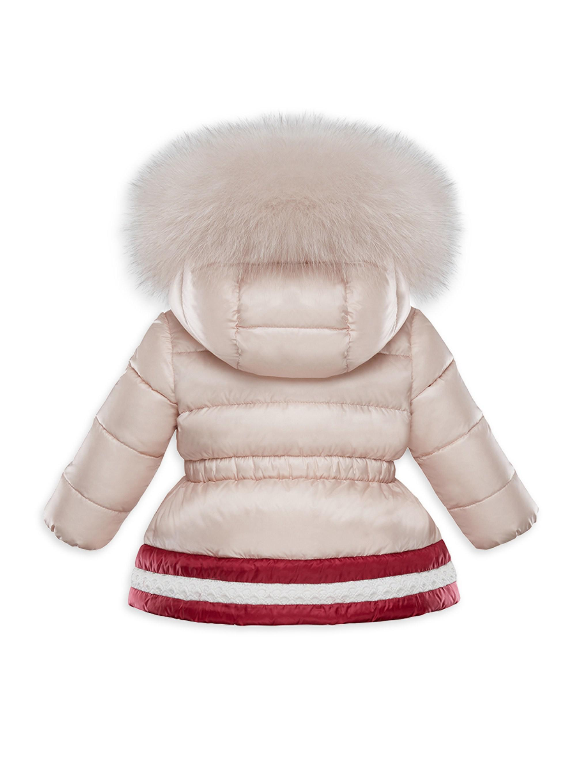 793644f92 Moncler Multicolor Baby Girl's & Little Girl's Fox Fur-trimmed Puffer Jacket