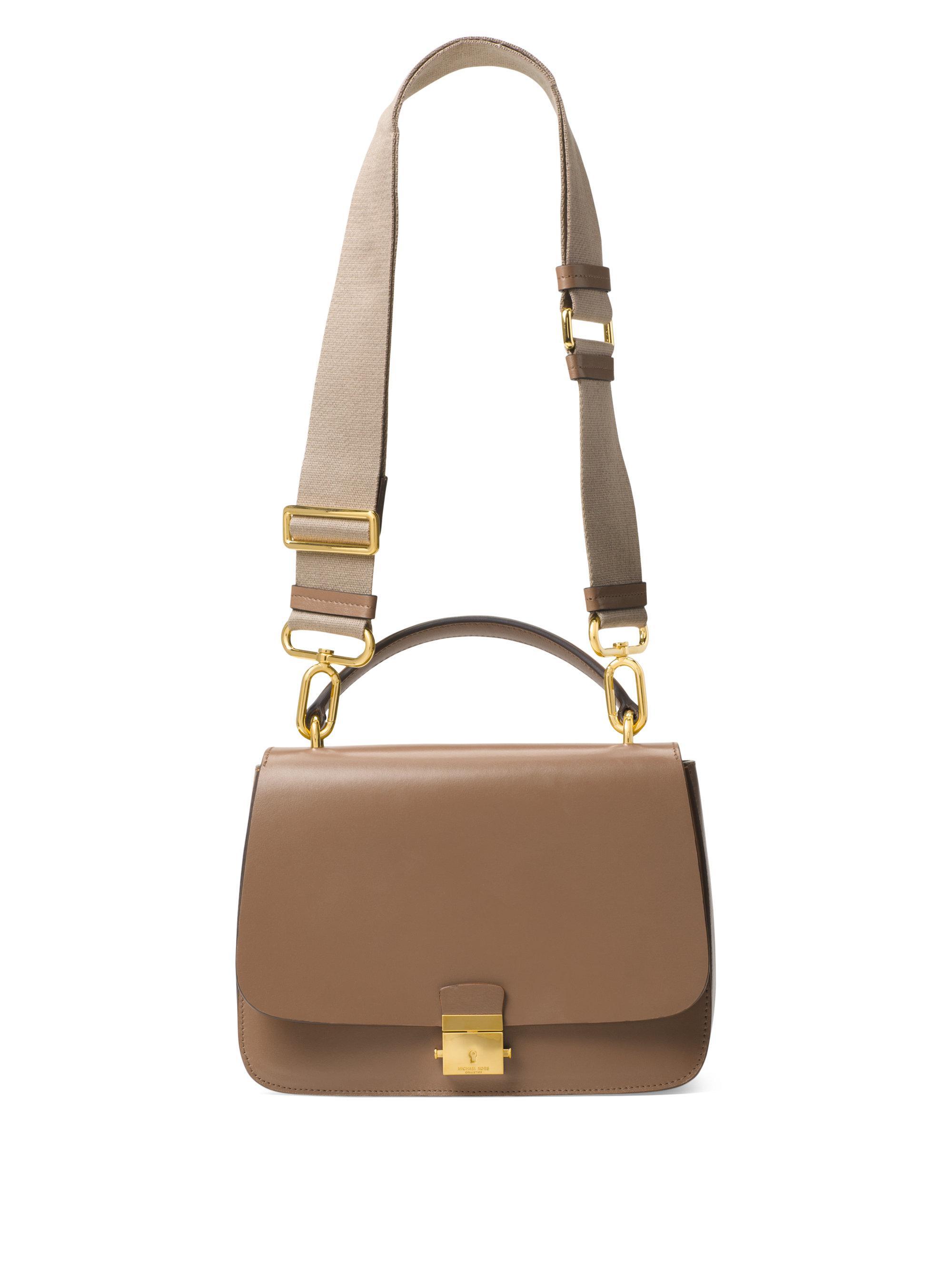 8da3c8db886d1 Lyst - Michael Kors Mia Leather Top Handle Shoulder Bag