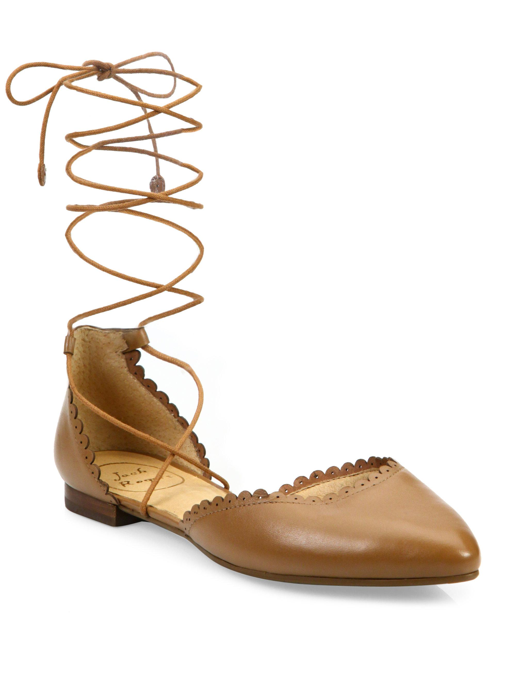 Jack Rogers. Women's Camille Leather Lace-up Flats