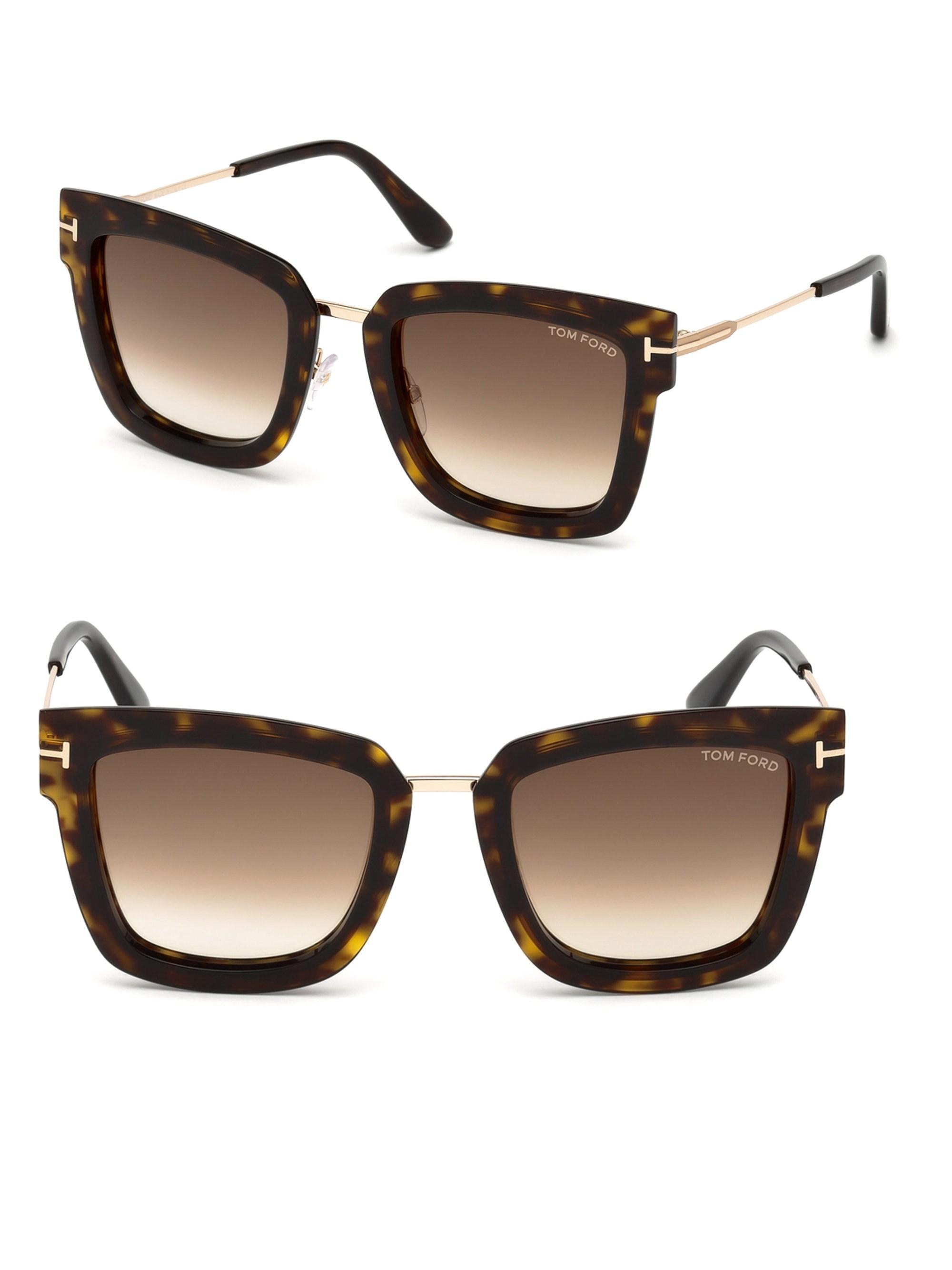 3e32701b02 Tom Ford - Brown Women s Lara Square Sunglasses - Havana - Lyst. View  fullscreen
