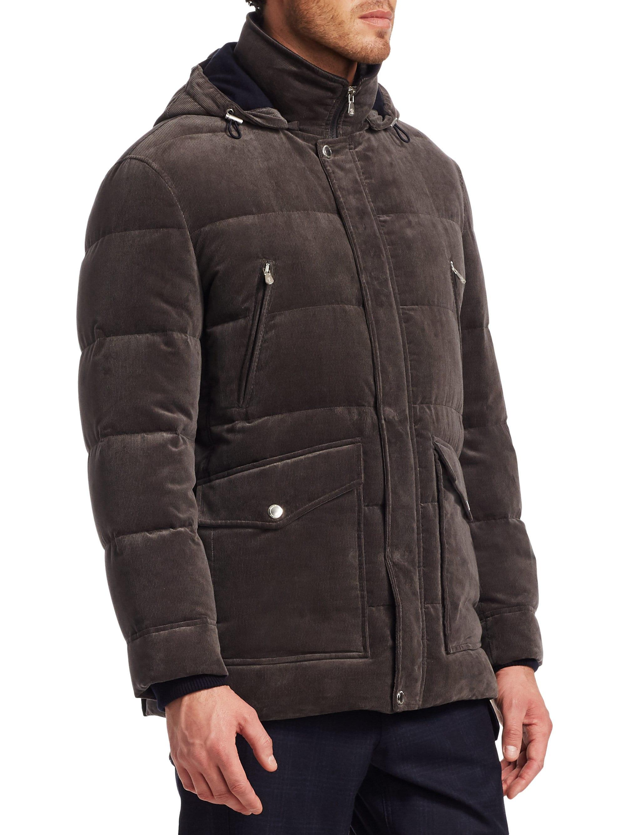 Brunello Cucinelli Cord Hooded Down Cashmere Puffer Jacket ...
