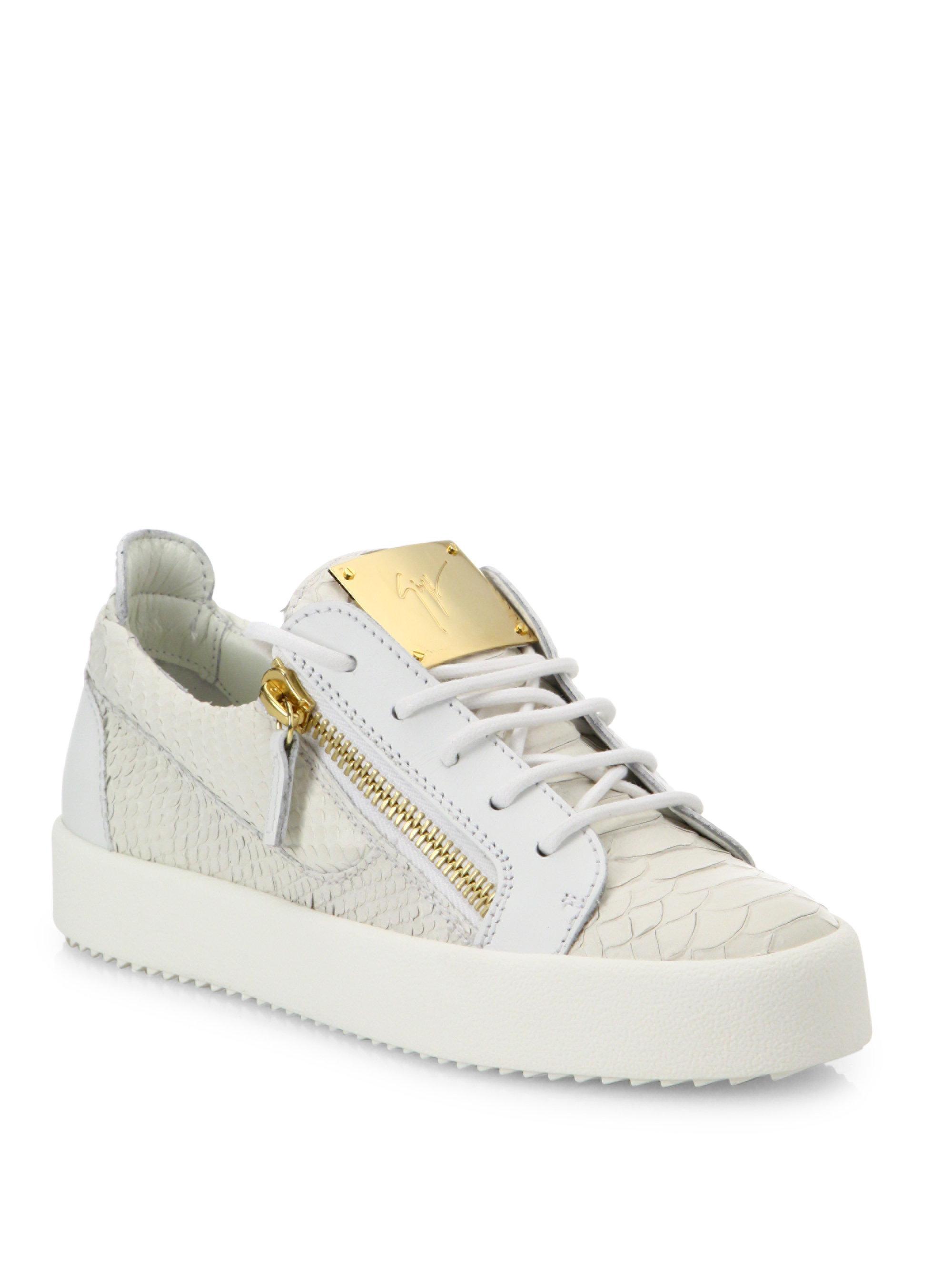 side zipped sneakers - White Giuseppe Zanotti iis9AQ