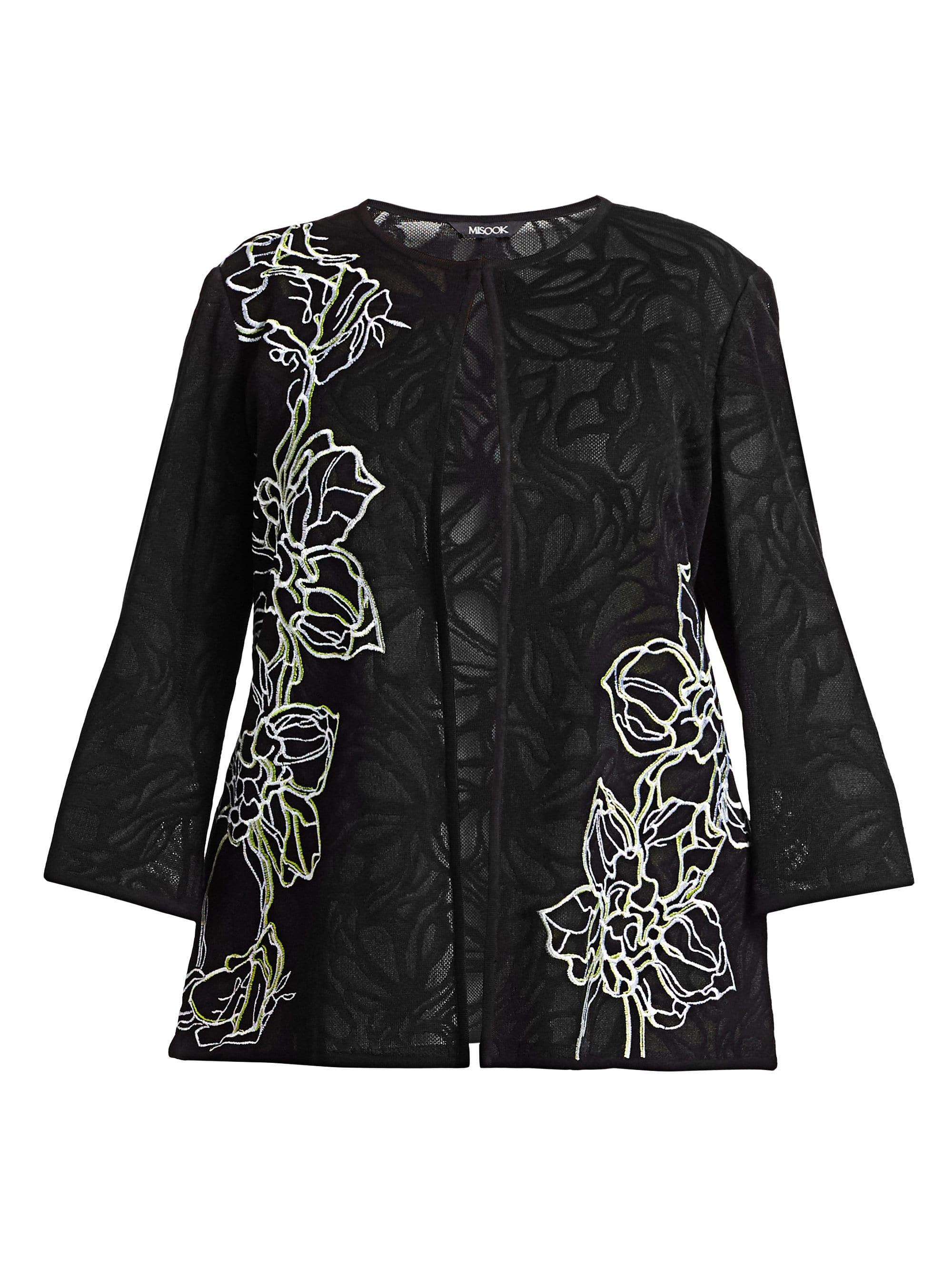 0e9ea481bfdf3 ... Sheer Pattern Embroidery Jacket - Lyst. View fullscreen